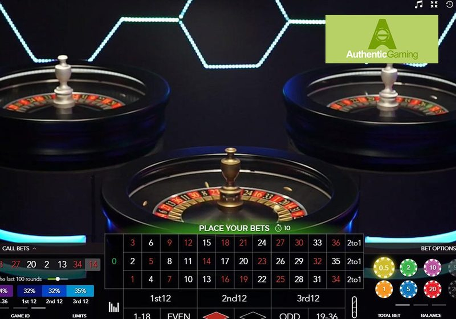 Duo Live Auto Roulette Online Slot Demo Game by Authentic Gaming