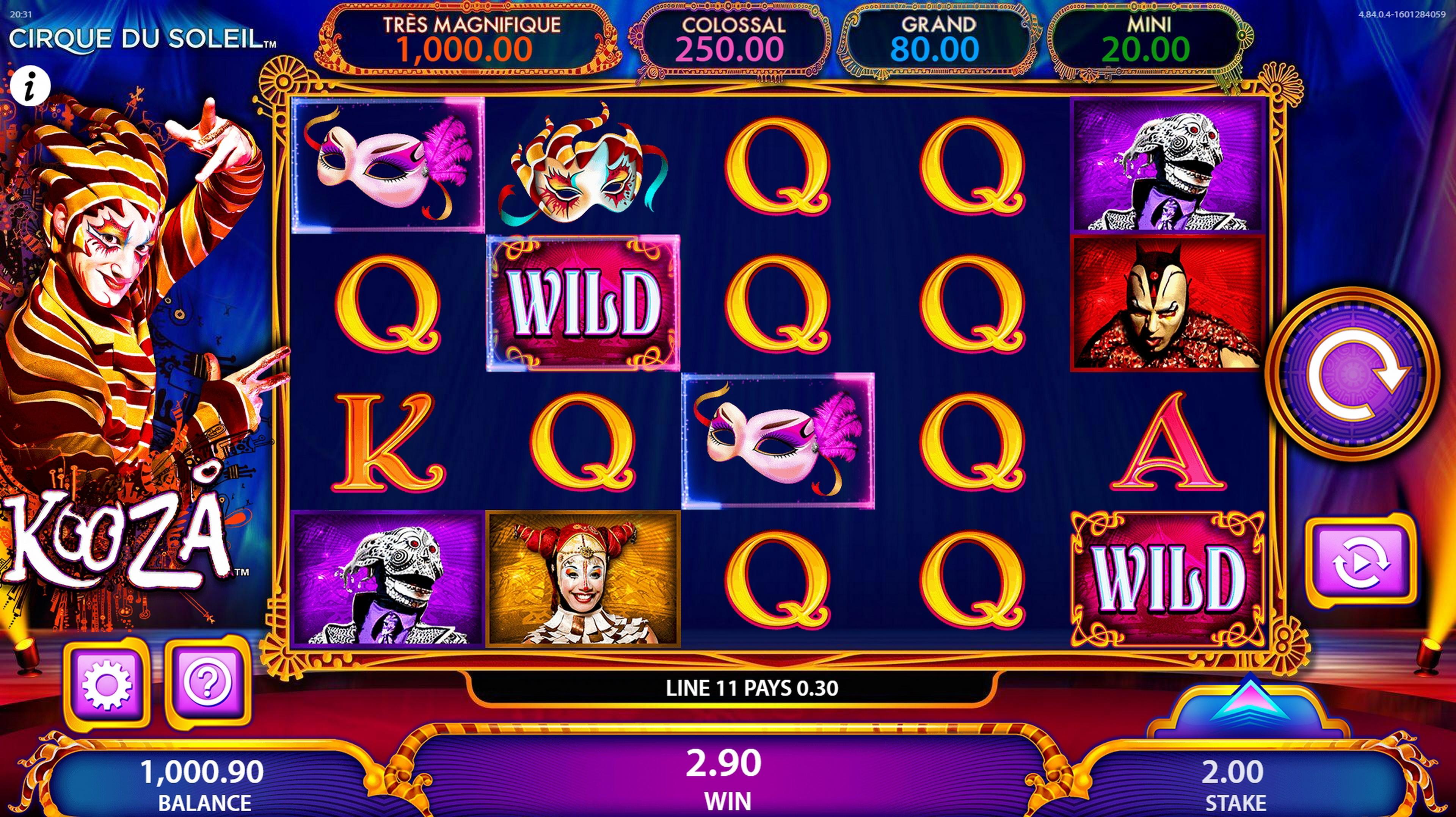 Cirque Du Soleil Kooza Slot Machine