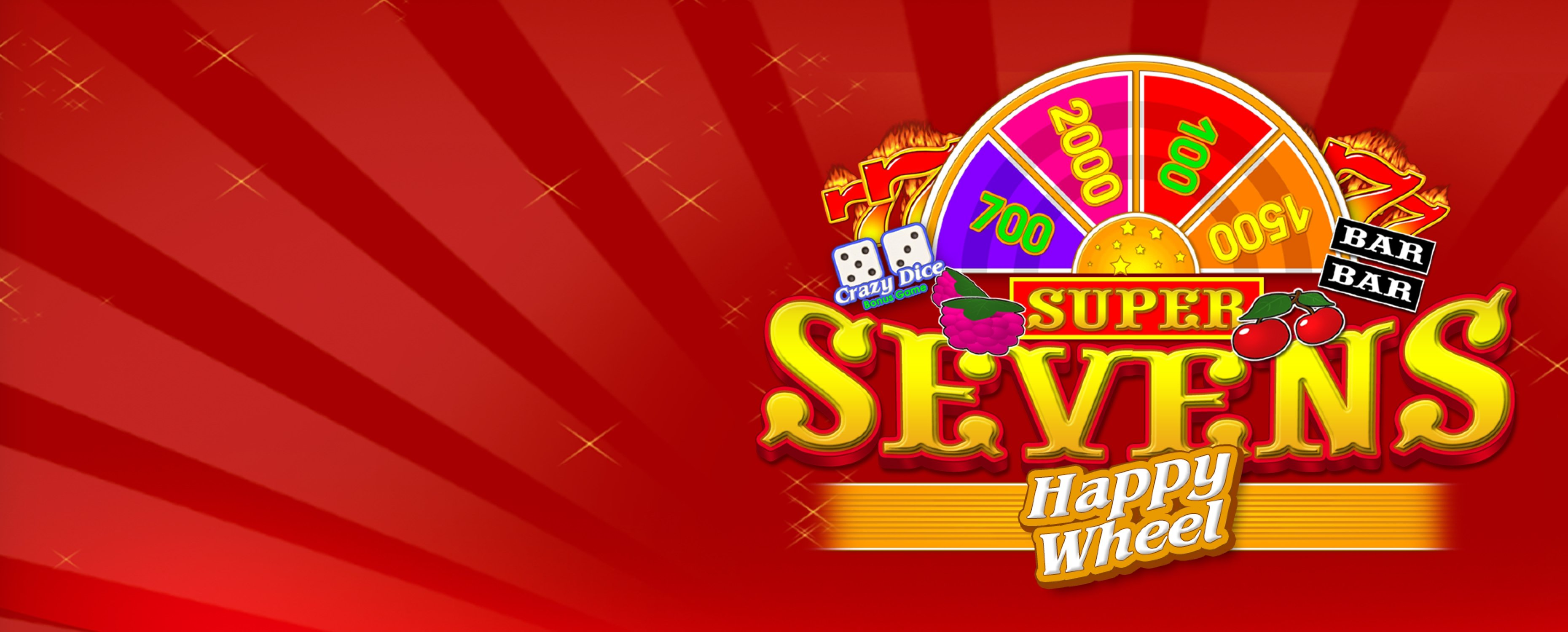 Reels in Super Sevens Happy Wheel Slot Game by Belatra Games