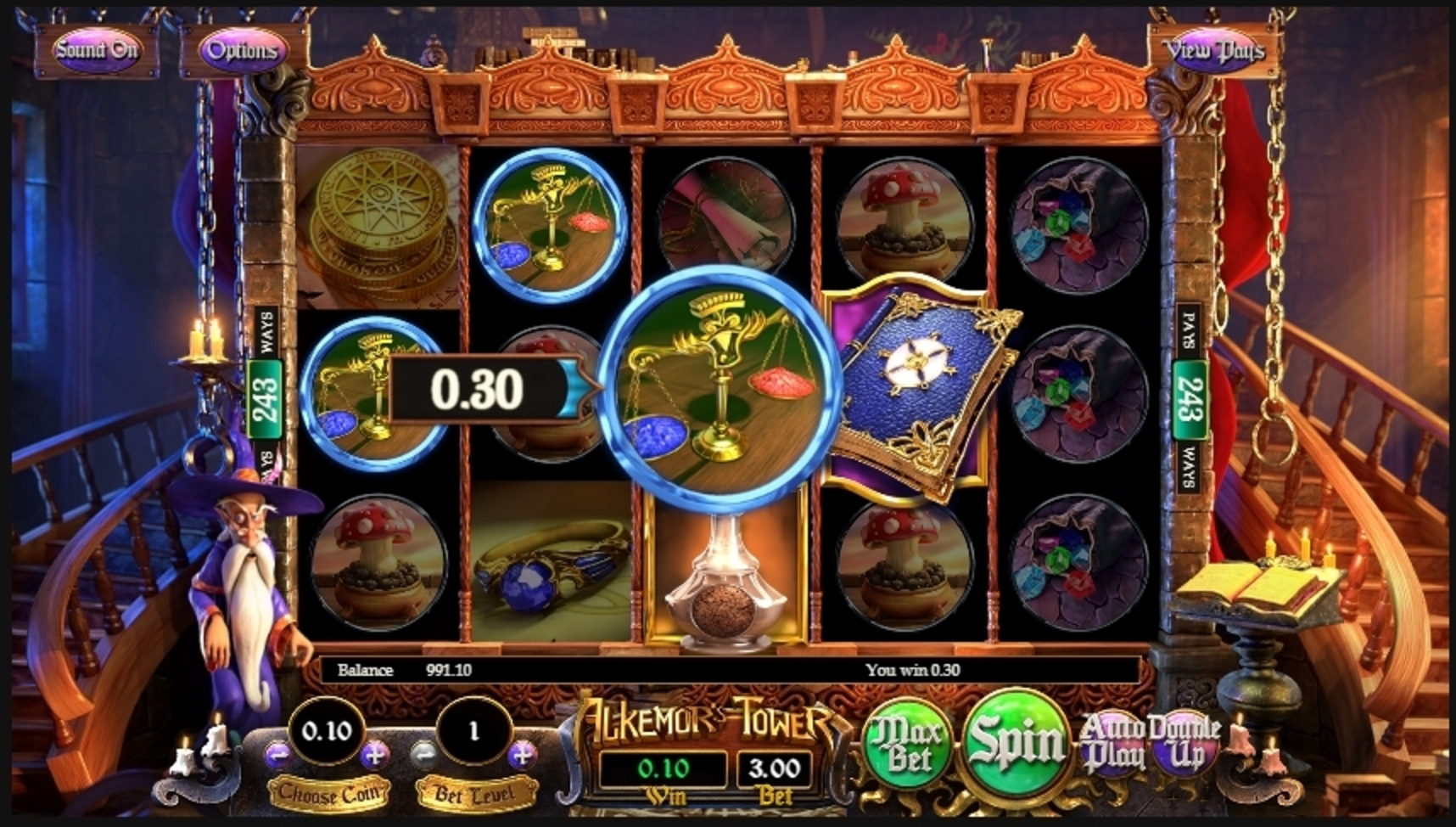 Win Money in Alkemors Tower Free Slot Game by Betsoft