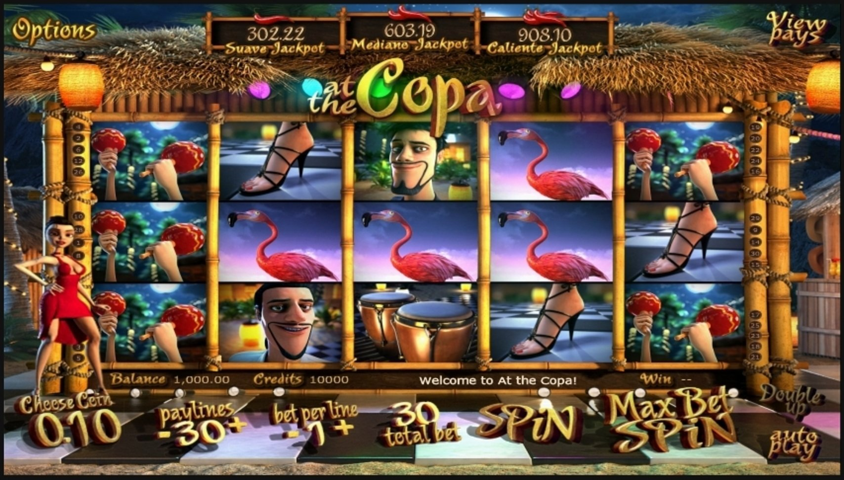 Reels in At the Copa Slot Game by Betsoft