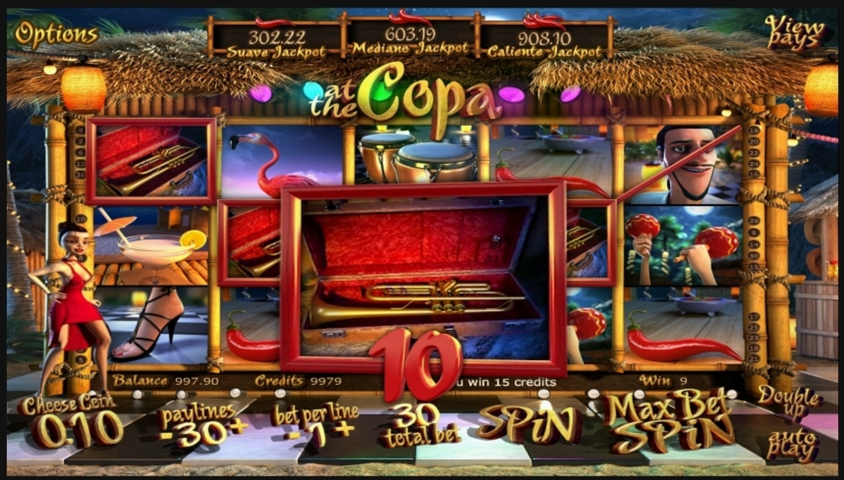 Win Money in At the Copa Free Slot Game by Betsoft