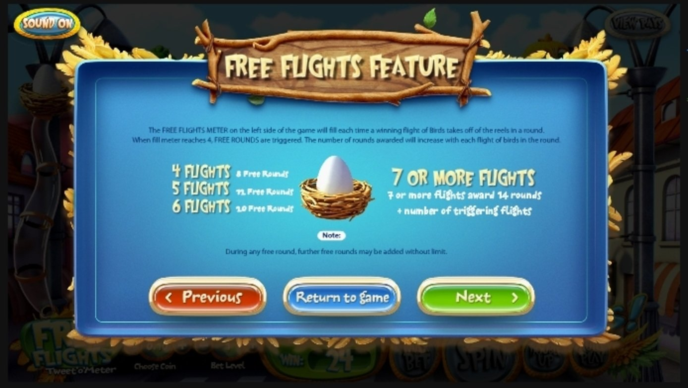 Info of Birds! Slot Game by Betsoft