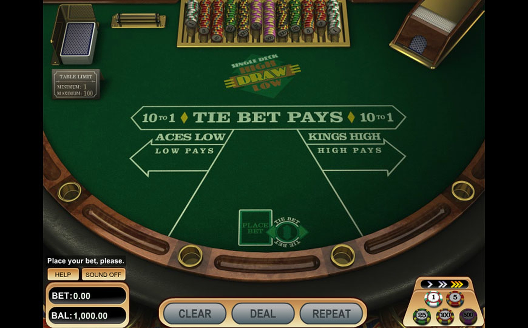 The Draw High Low (Betsoft) Online Slot Demo Game by Betsoft