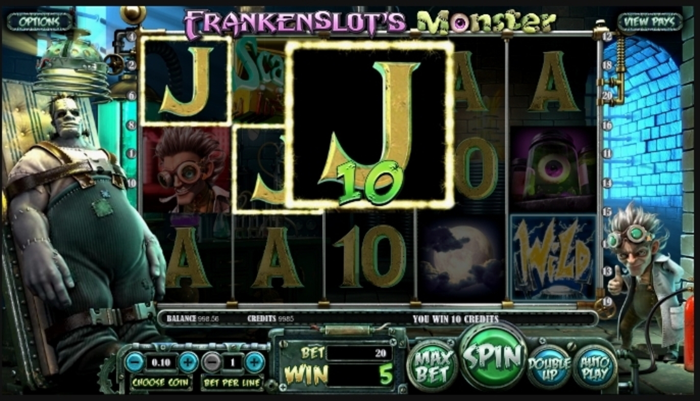 Win Money in Frankenslot's Monster Free Slot Game by Betsoft