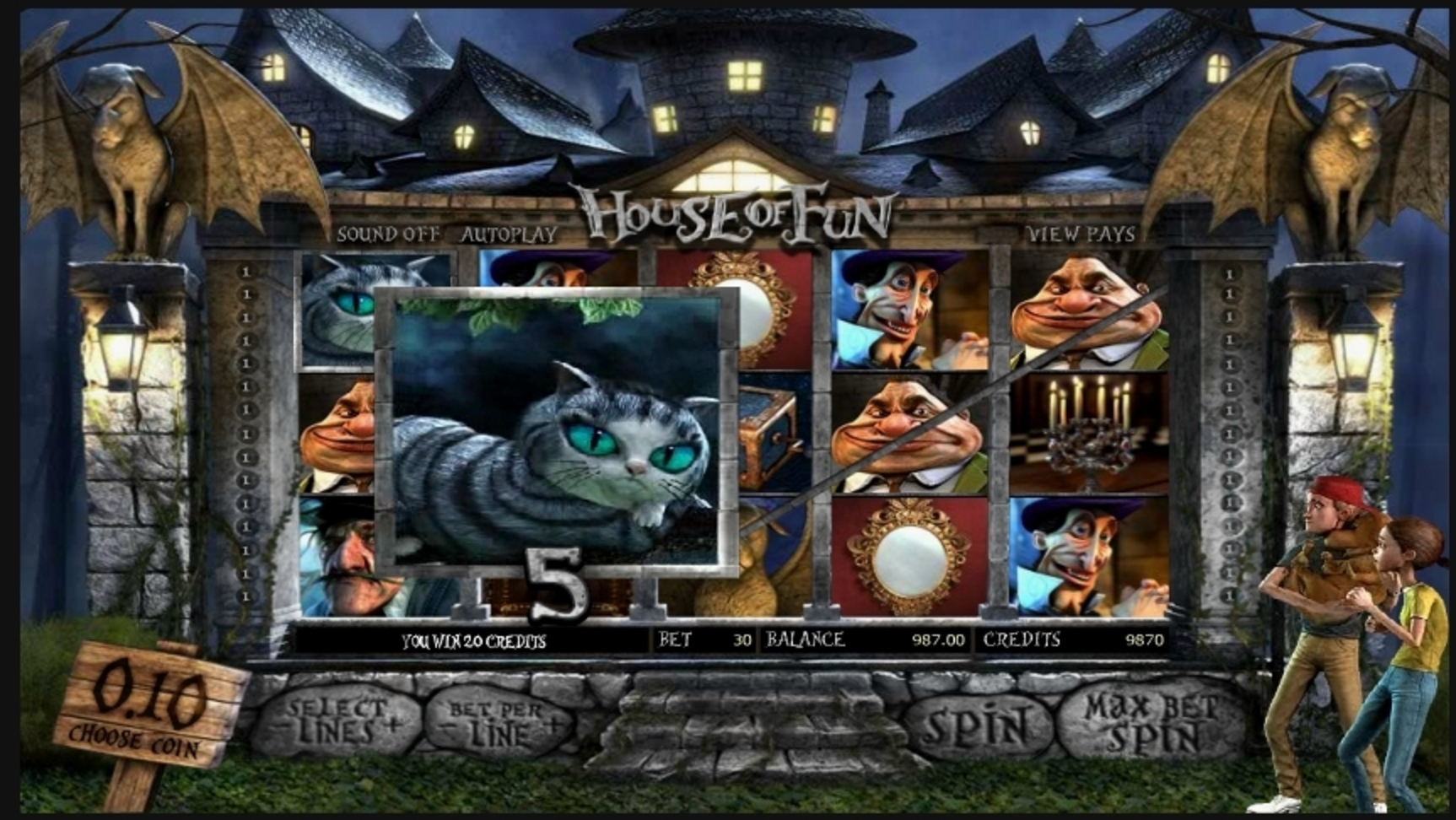 Win Money in House of Fun Free Slot Game by Betsoft