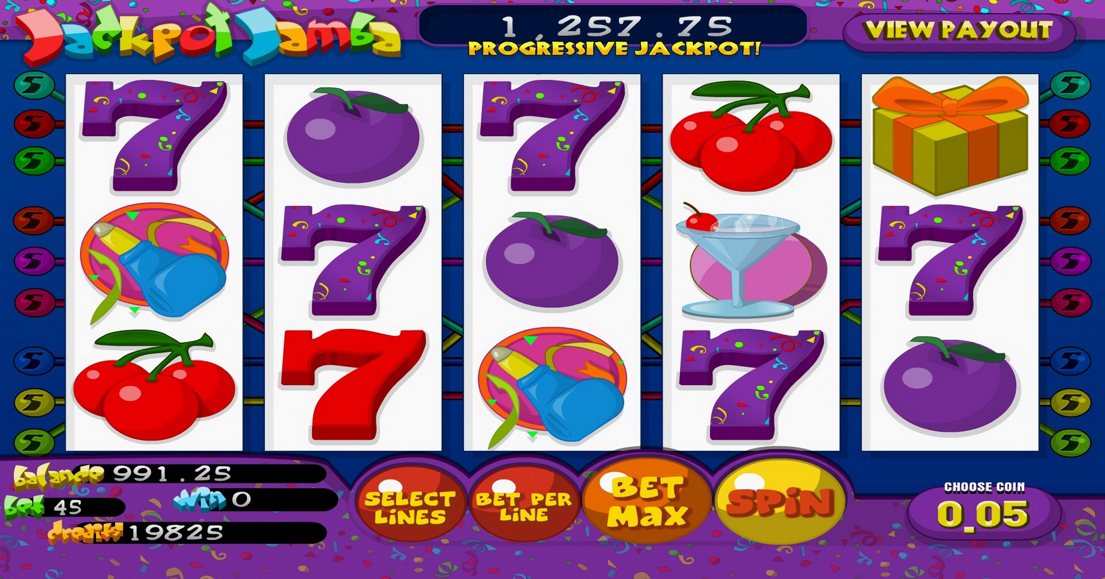 Reels in Jackpot Jamba Slot Game by Betsoft