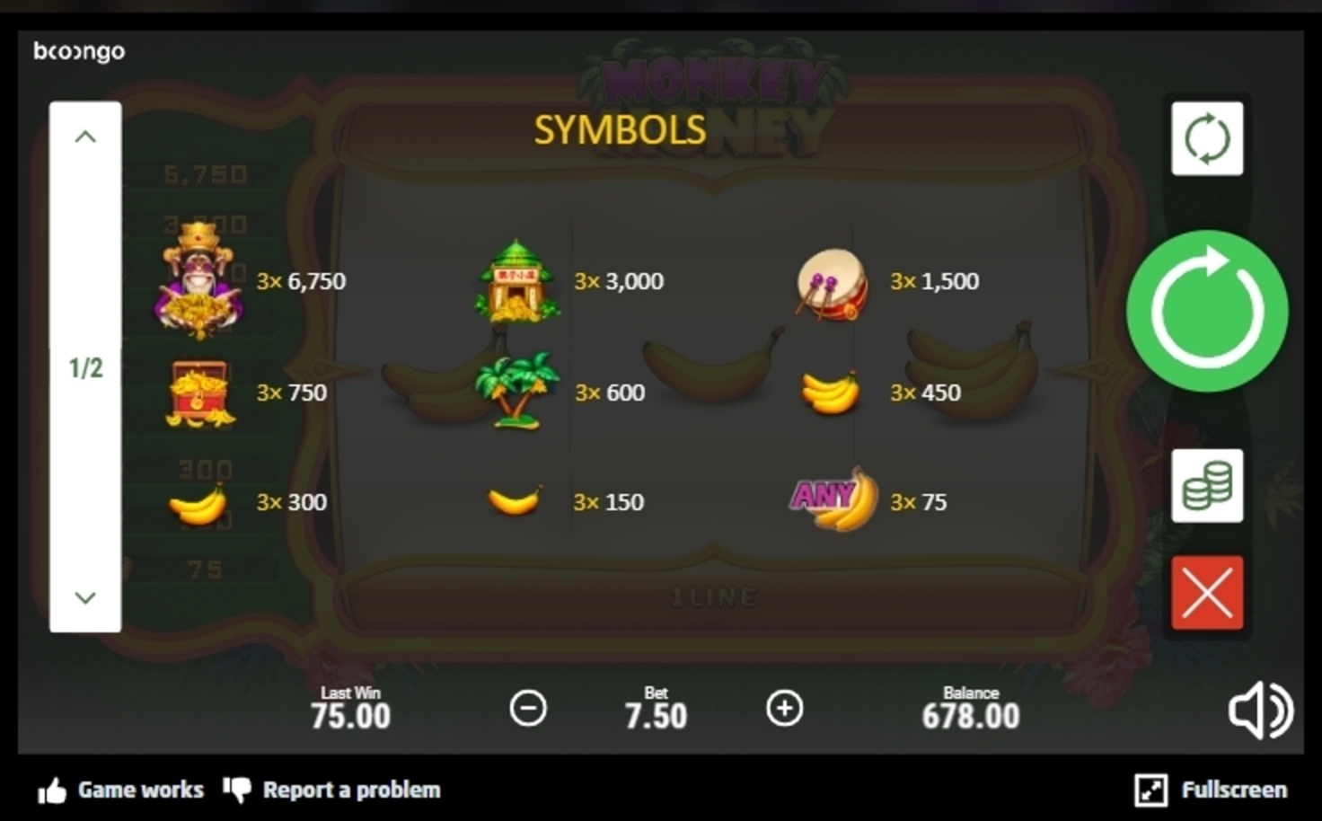 Info of Monkey Money (Betsoft) Slot Game by Betsoft
