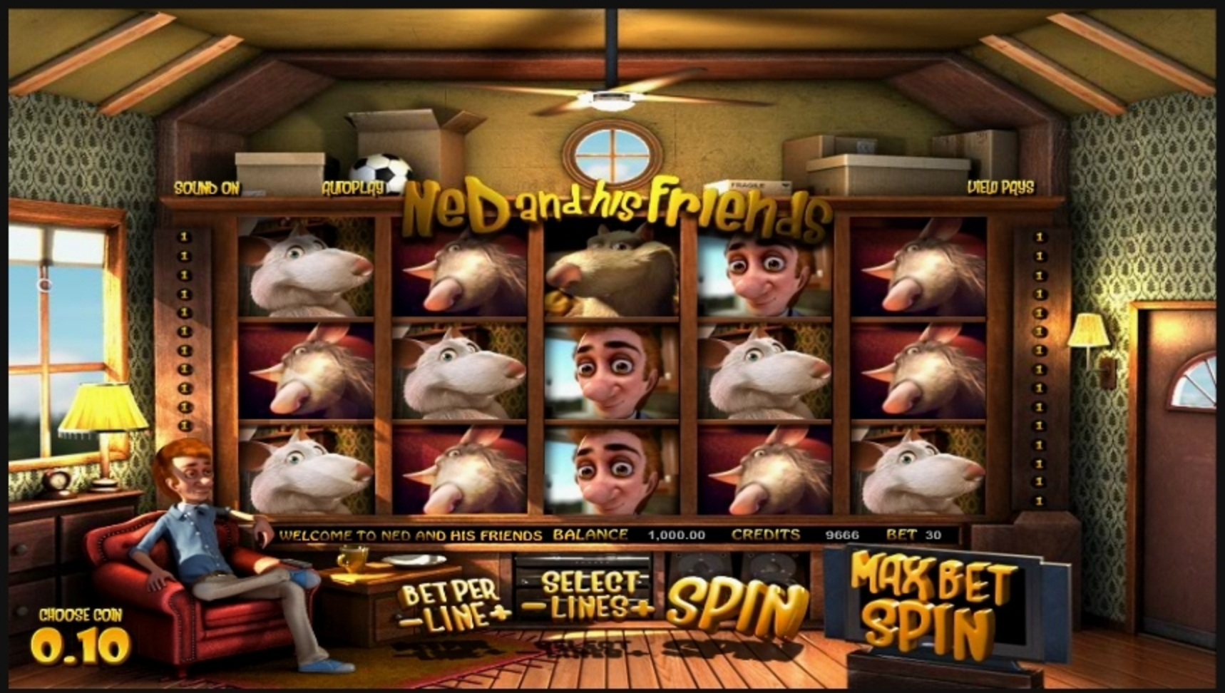 Reels in Ned and His Friends Slot Game by Betsoft