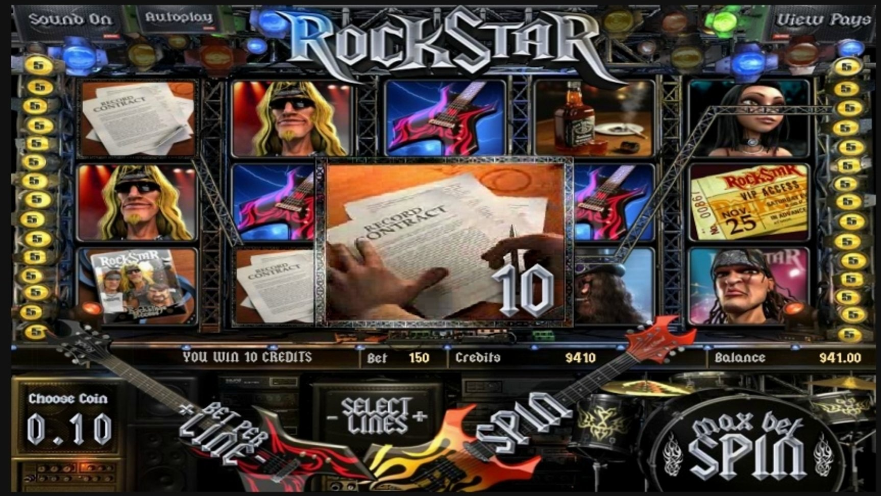 Win Money in RockStar Free Slot Game by Betsoft