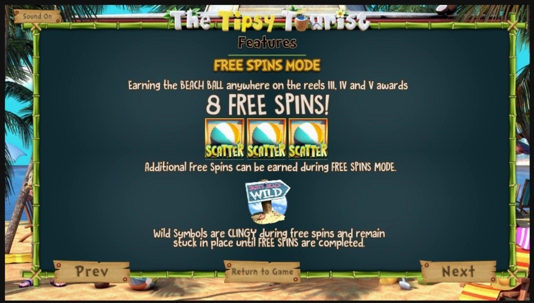 The Tipsy Tourist Slot Machine