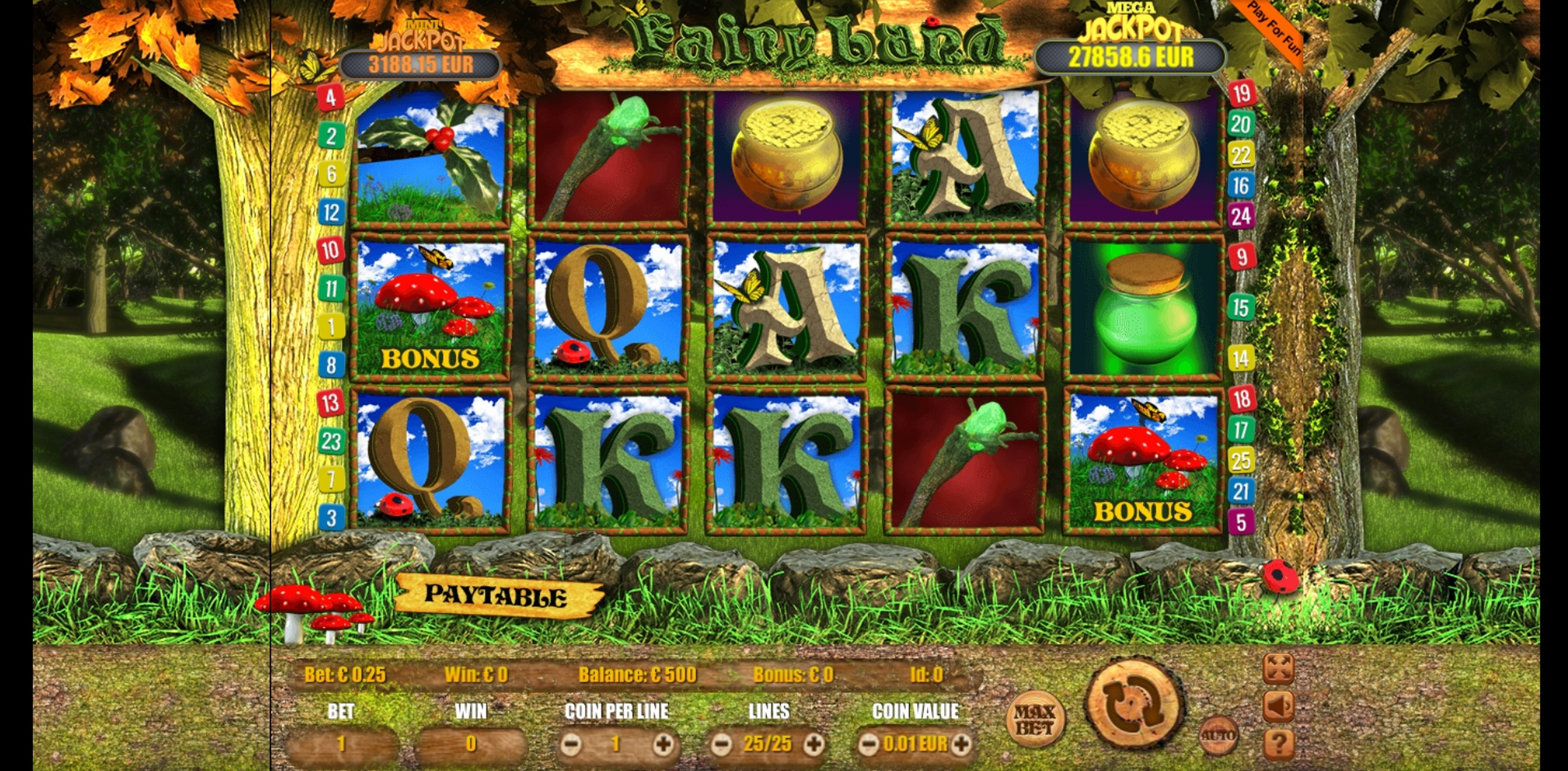 Reels in Fairyland Slot Game by bluberi
