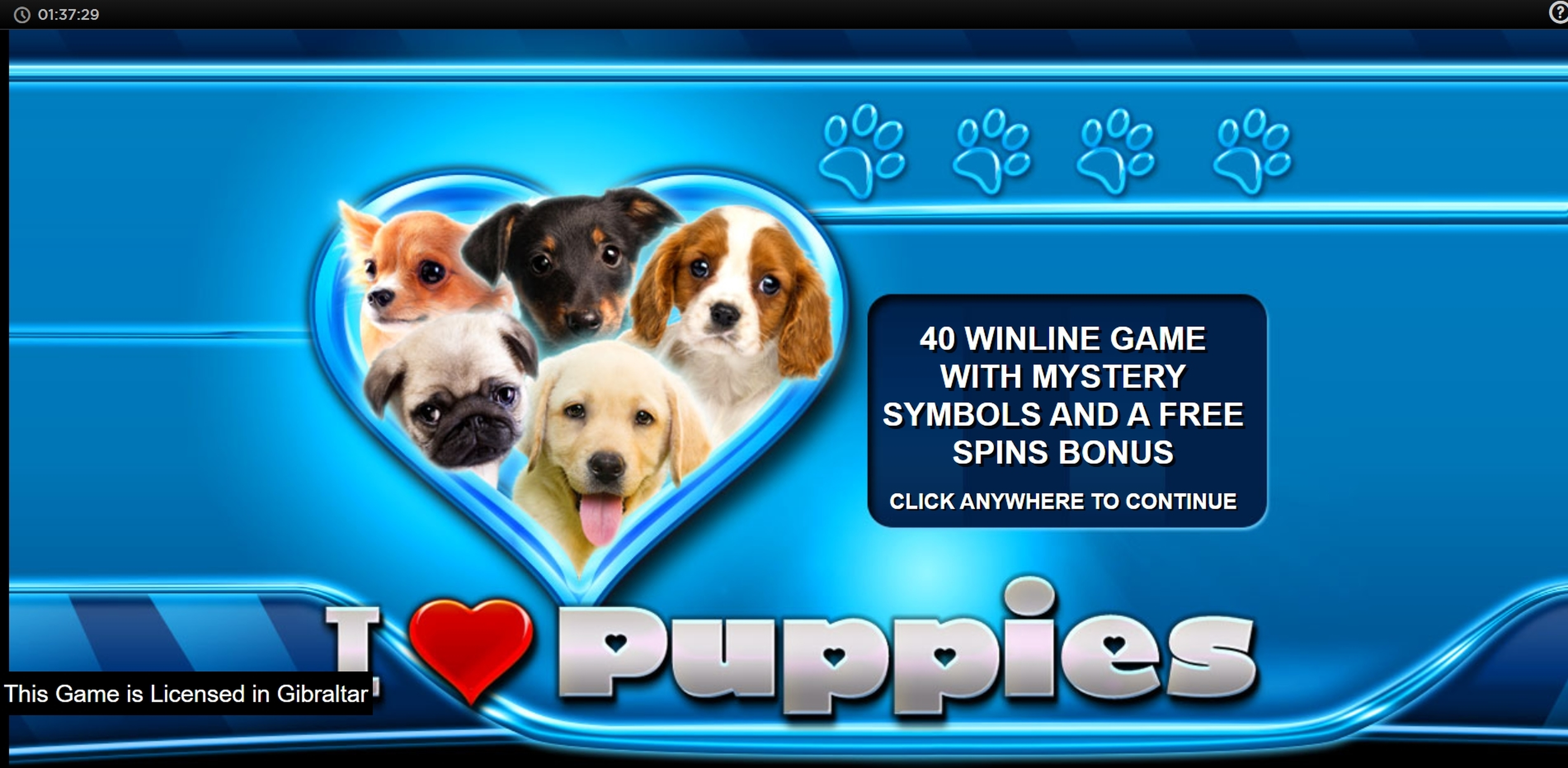 Play I Heart Puppies Free Casino Slot Game by CR Games