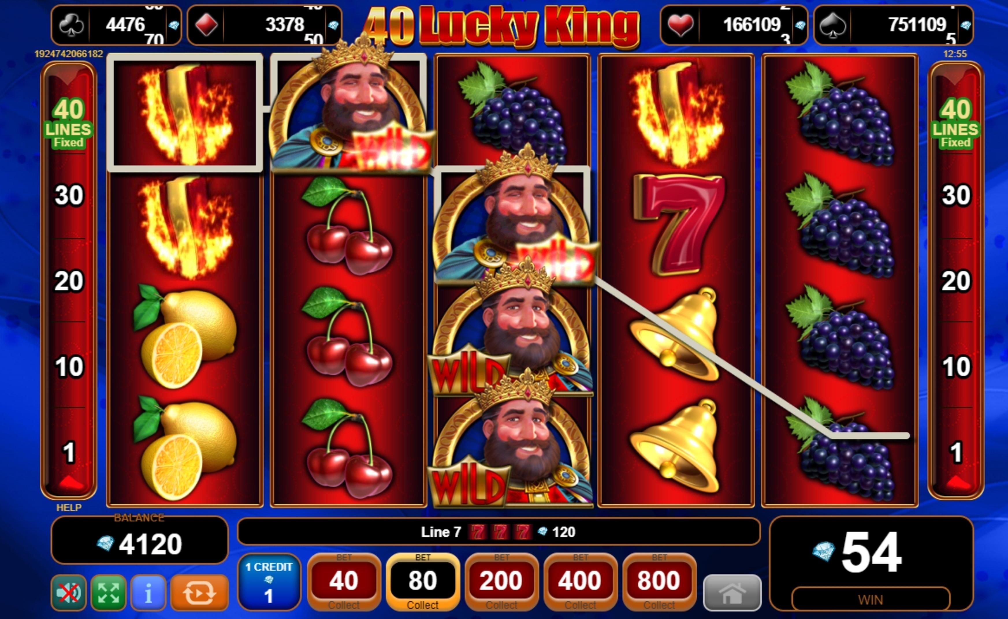 40 Lucky King Slot Machine