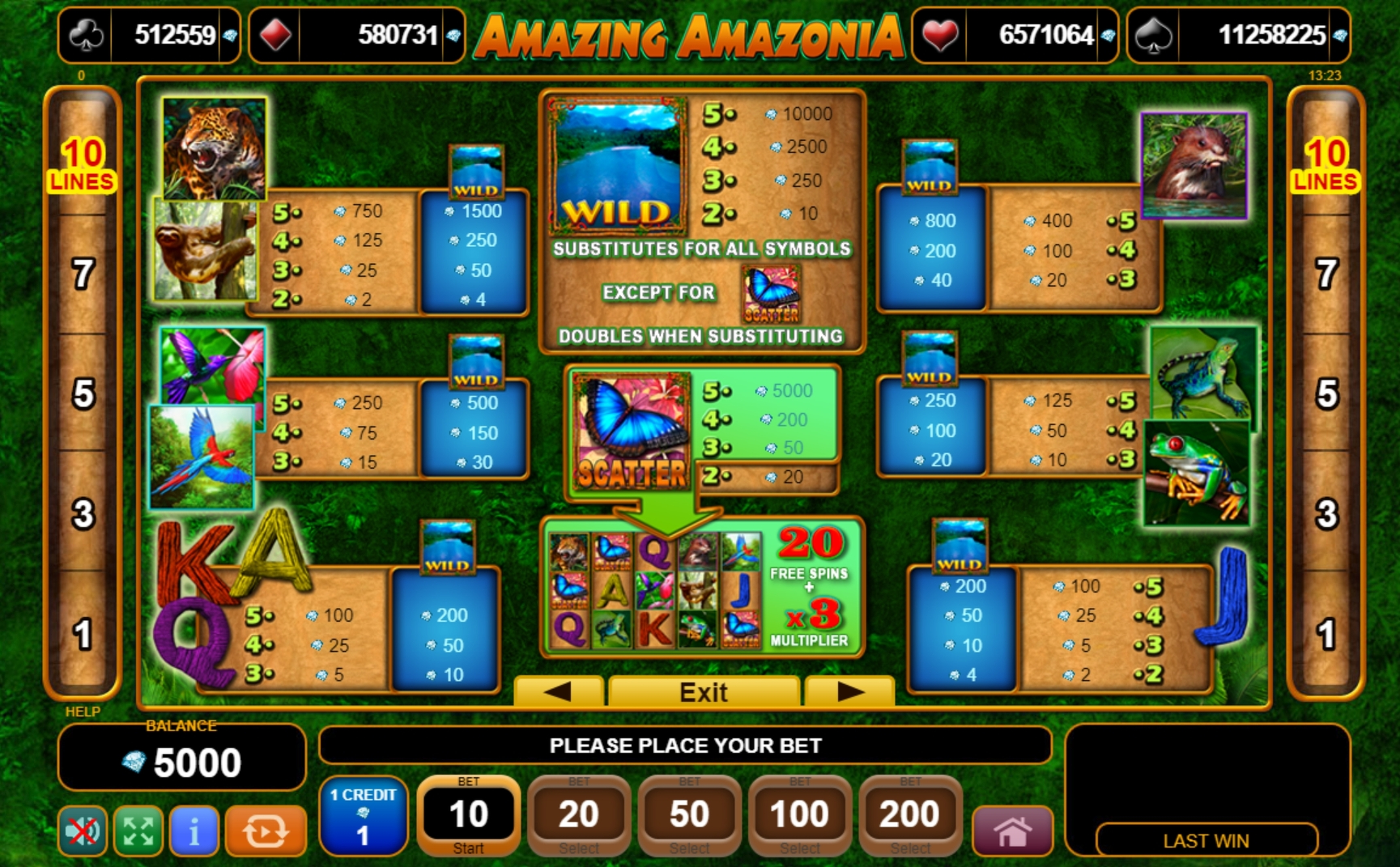 Info of Amazing Amazonia Slot Game by EGT