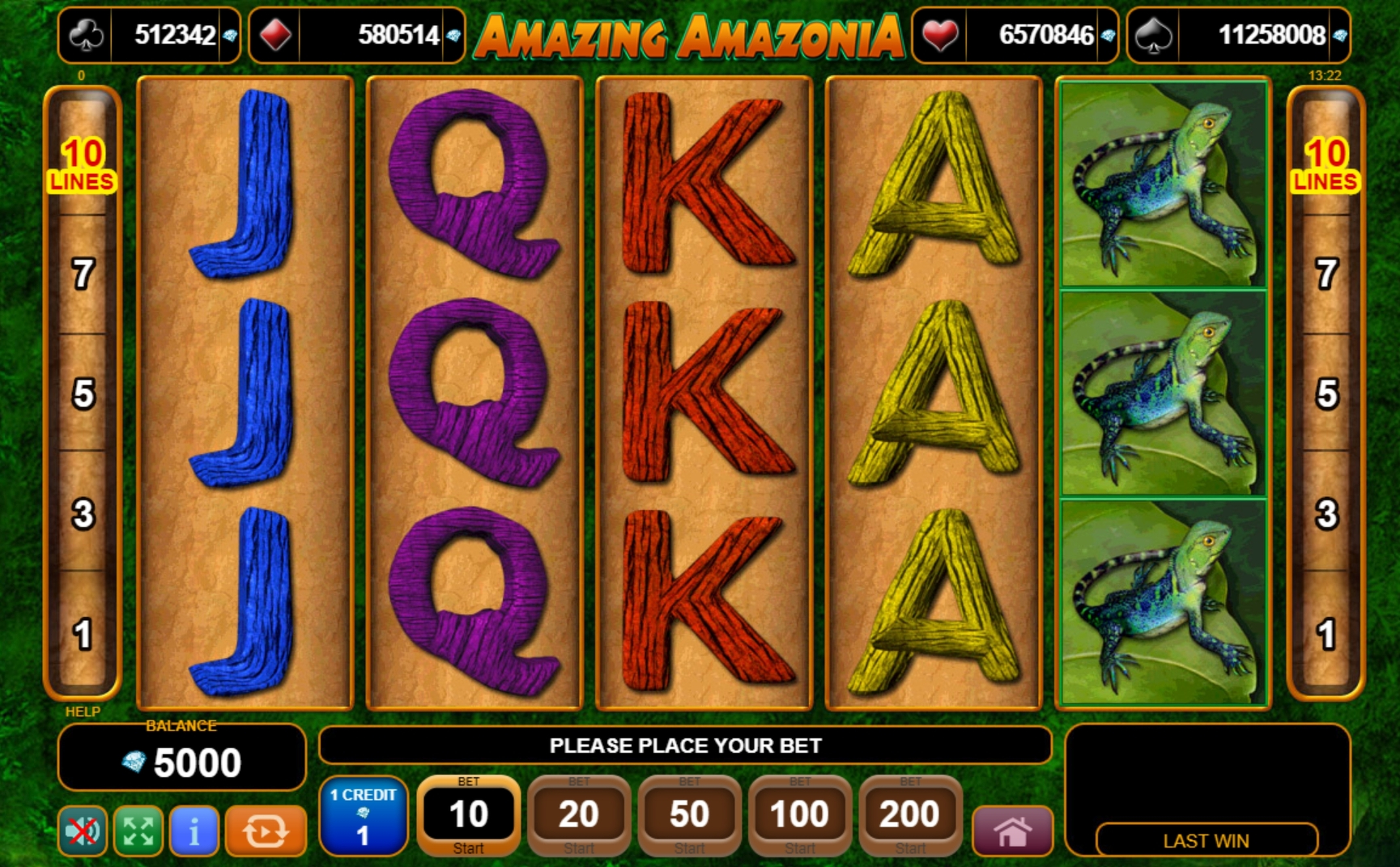 Reels in Amazing Amazonia Slot Game by EGT