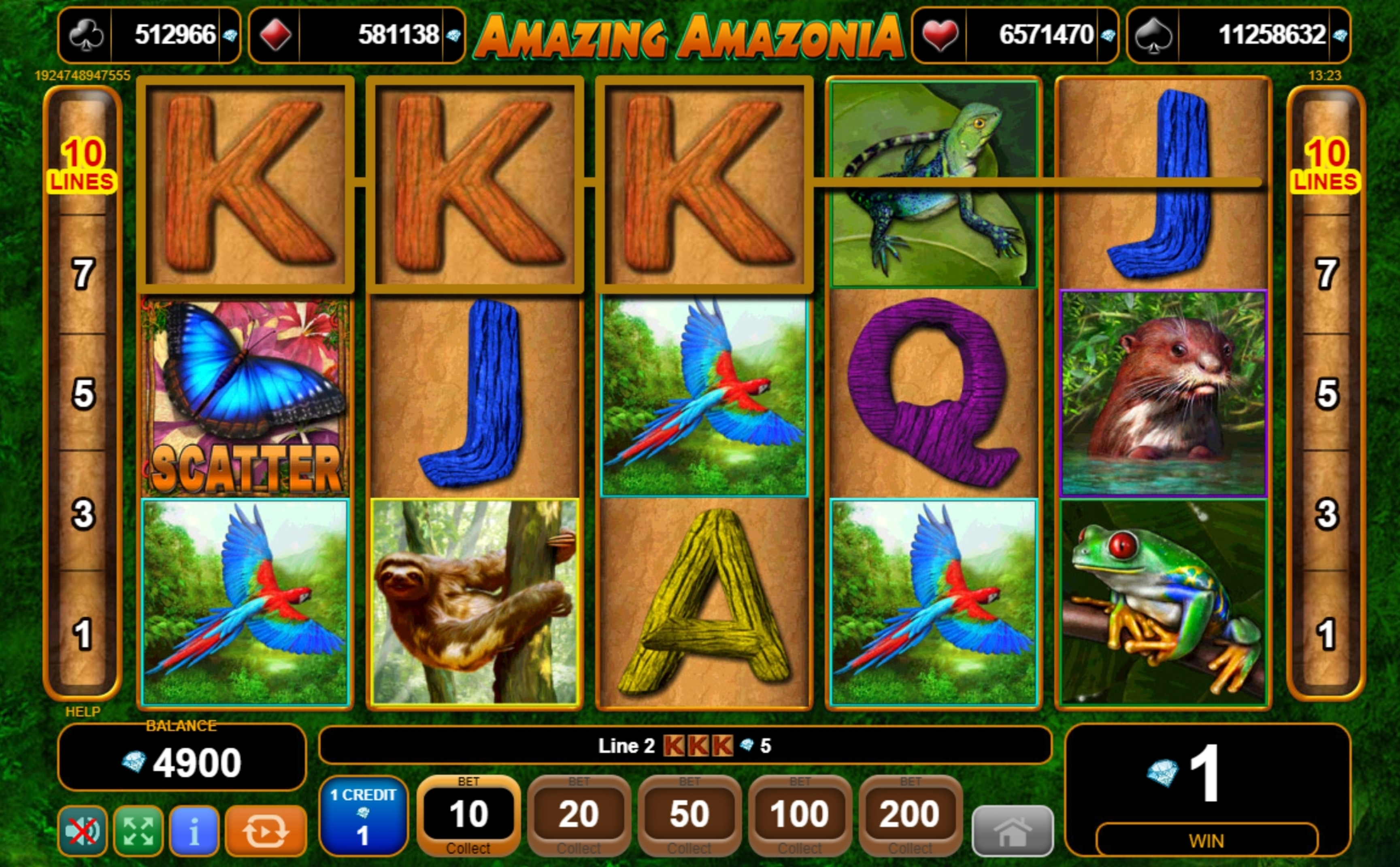 Win Money in Amazing Amazonia Free Slot Game by EGT
