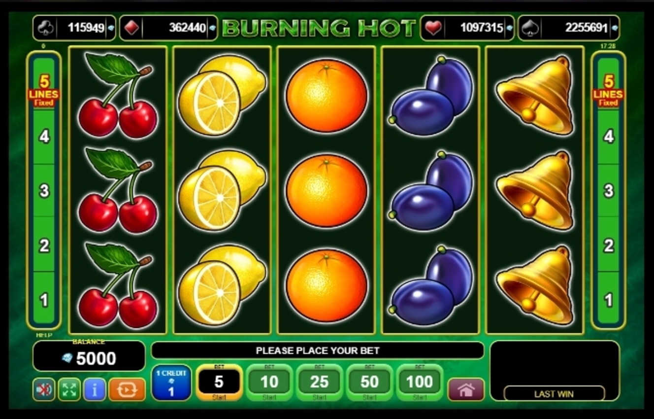 Reels in Burning Hot Slot Game by EGT