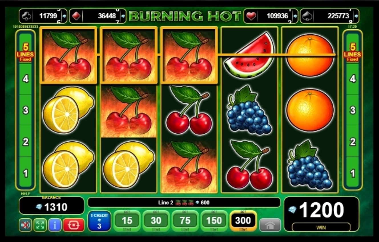 Win Money in Burning Hot Free Slot Game by EGT