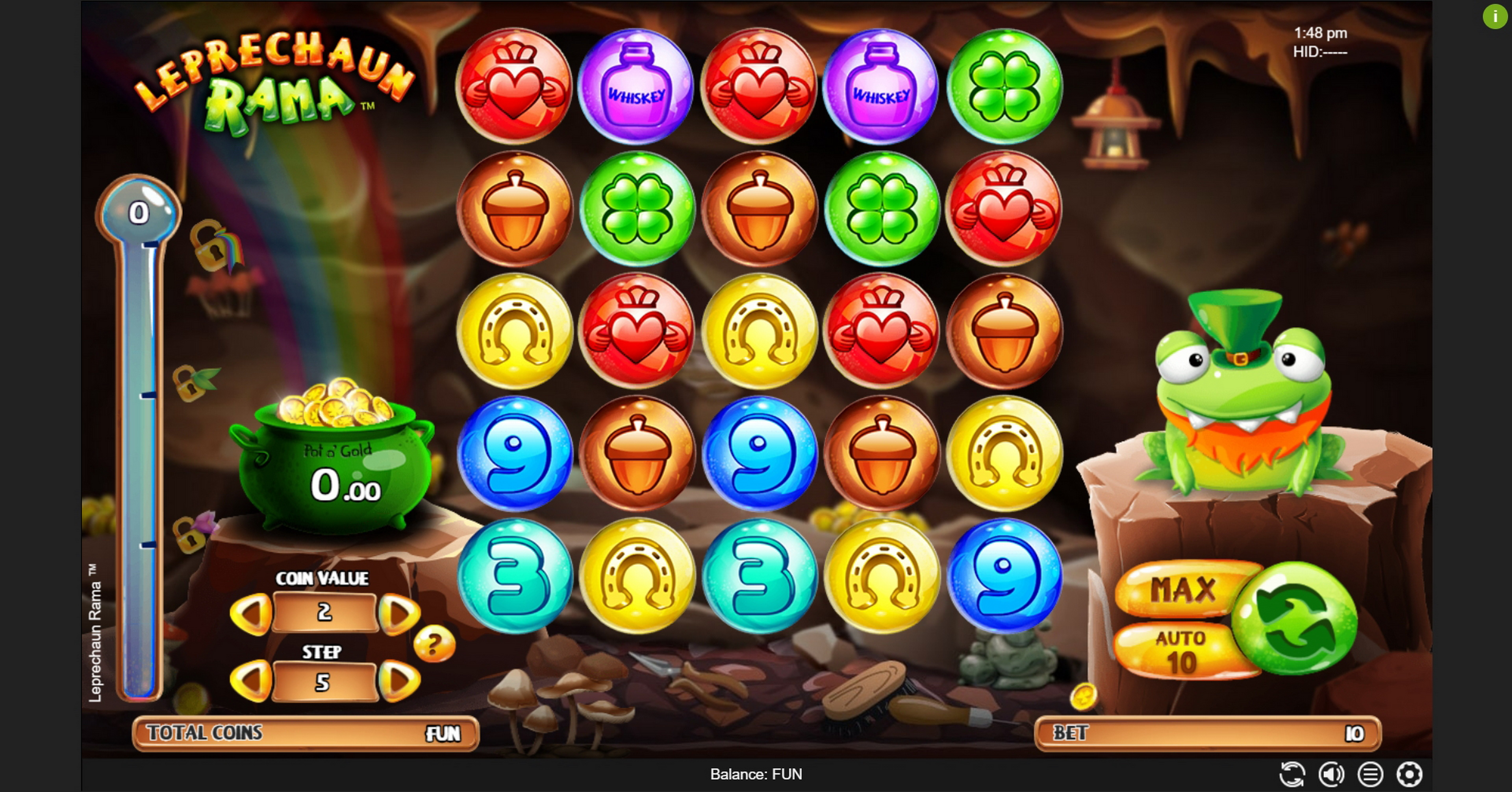 Reels in Leprechaun Rama Slot Game by Espresso Games