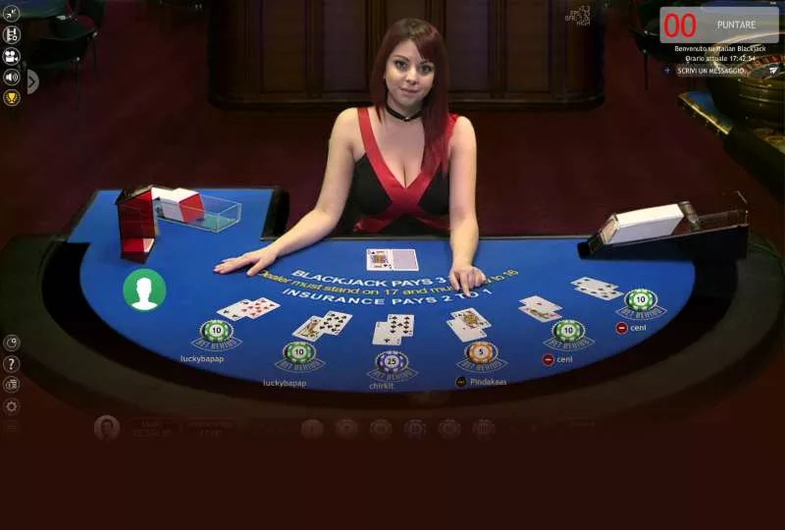 The Blackjack 1 Live Casino (Extreme Gaming) Online Slot Demo Game by Extreme Live Gaming