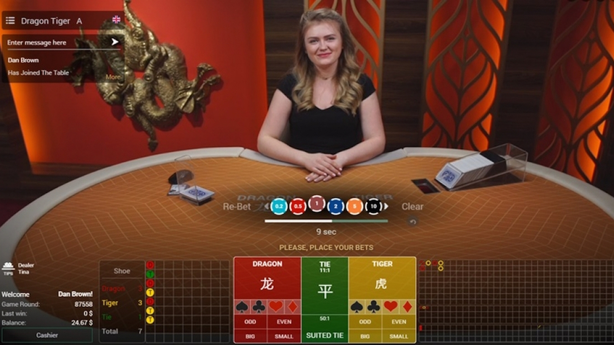 The Super 6 Baccarat Live Casino Online Slot Demo Game by Extreme Live Gaming