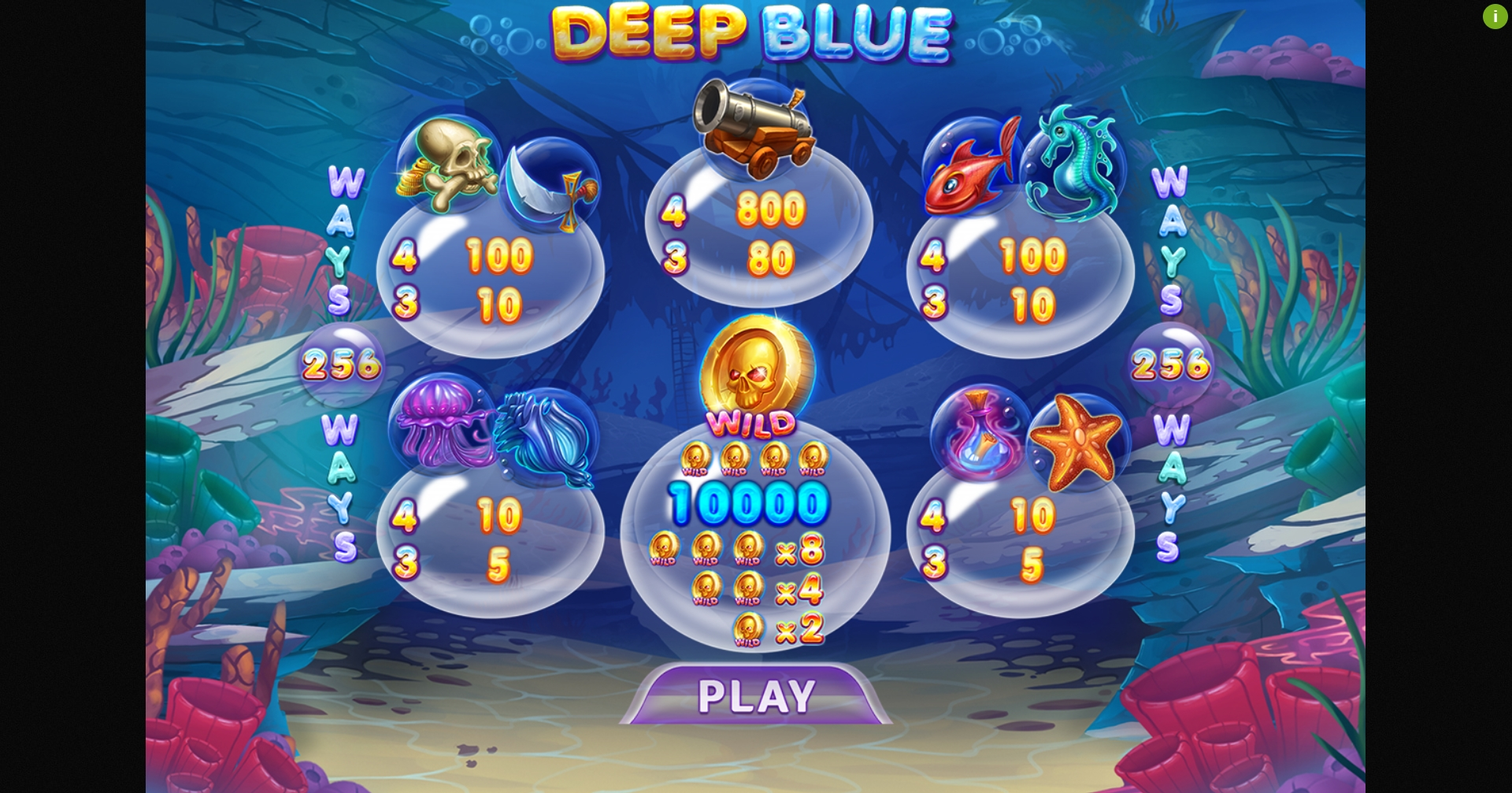 Play Deep Blue Jackbomb Free Casino Slot Game by Felix Gaming