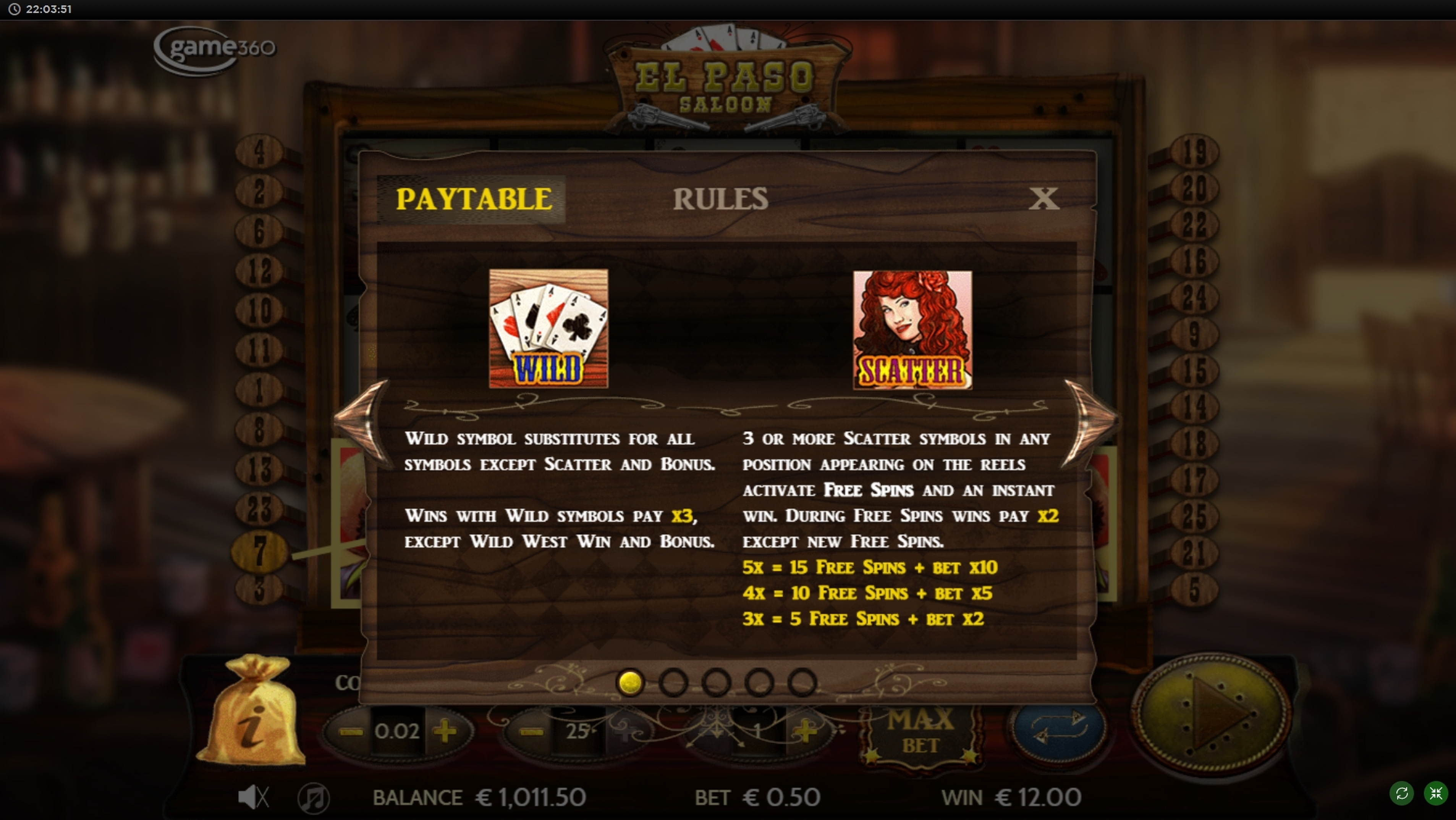 Play Maverick Saloon slots online free with no download required!