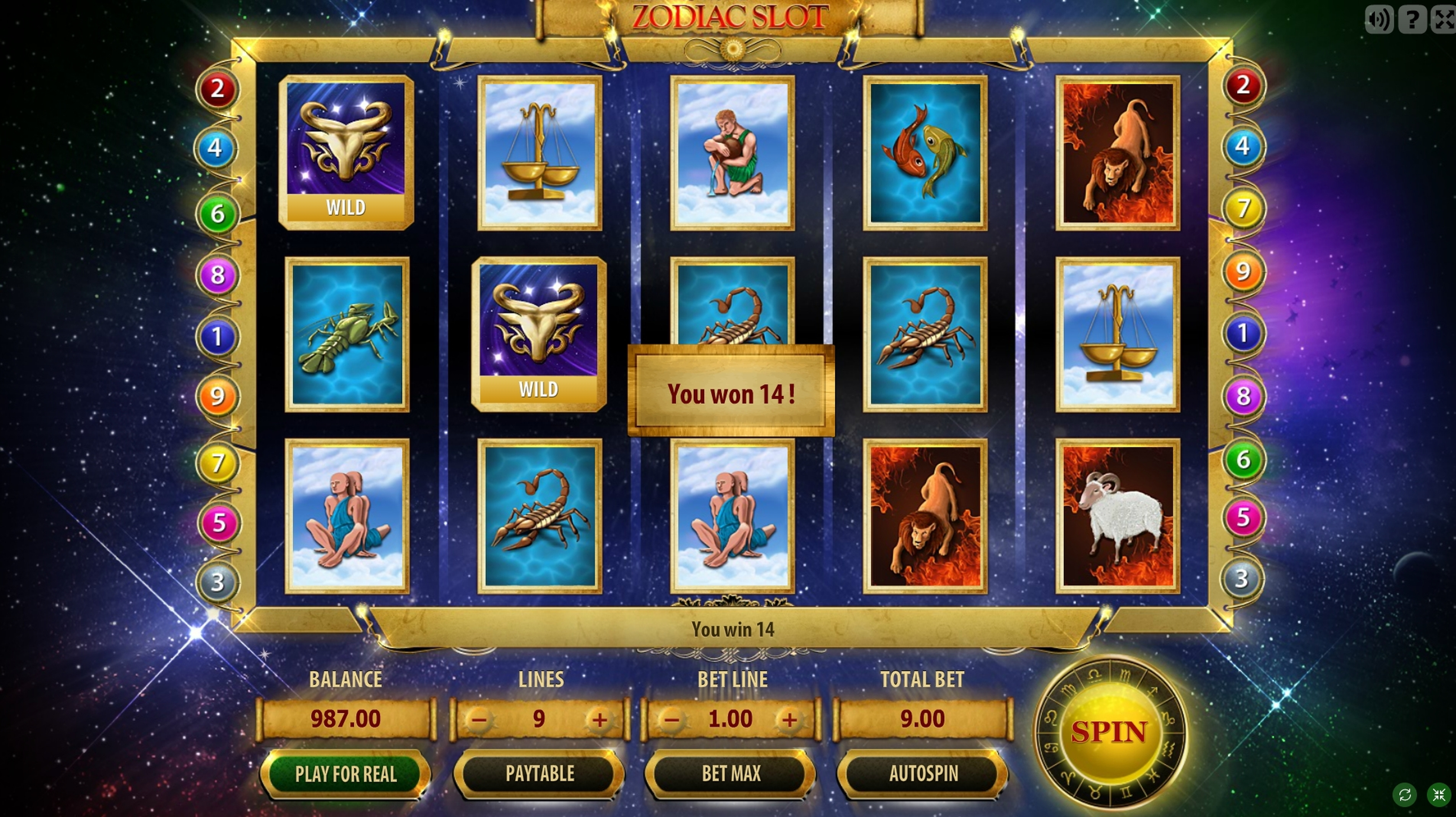 Win Money in Zodiac Slot Free Slot Game by GameScale
