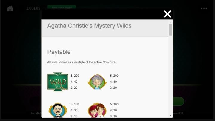 Agatha Christies Mystery Wilds Slot Machine