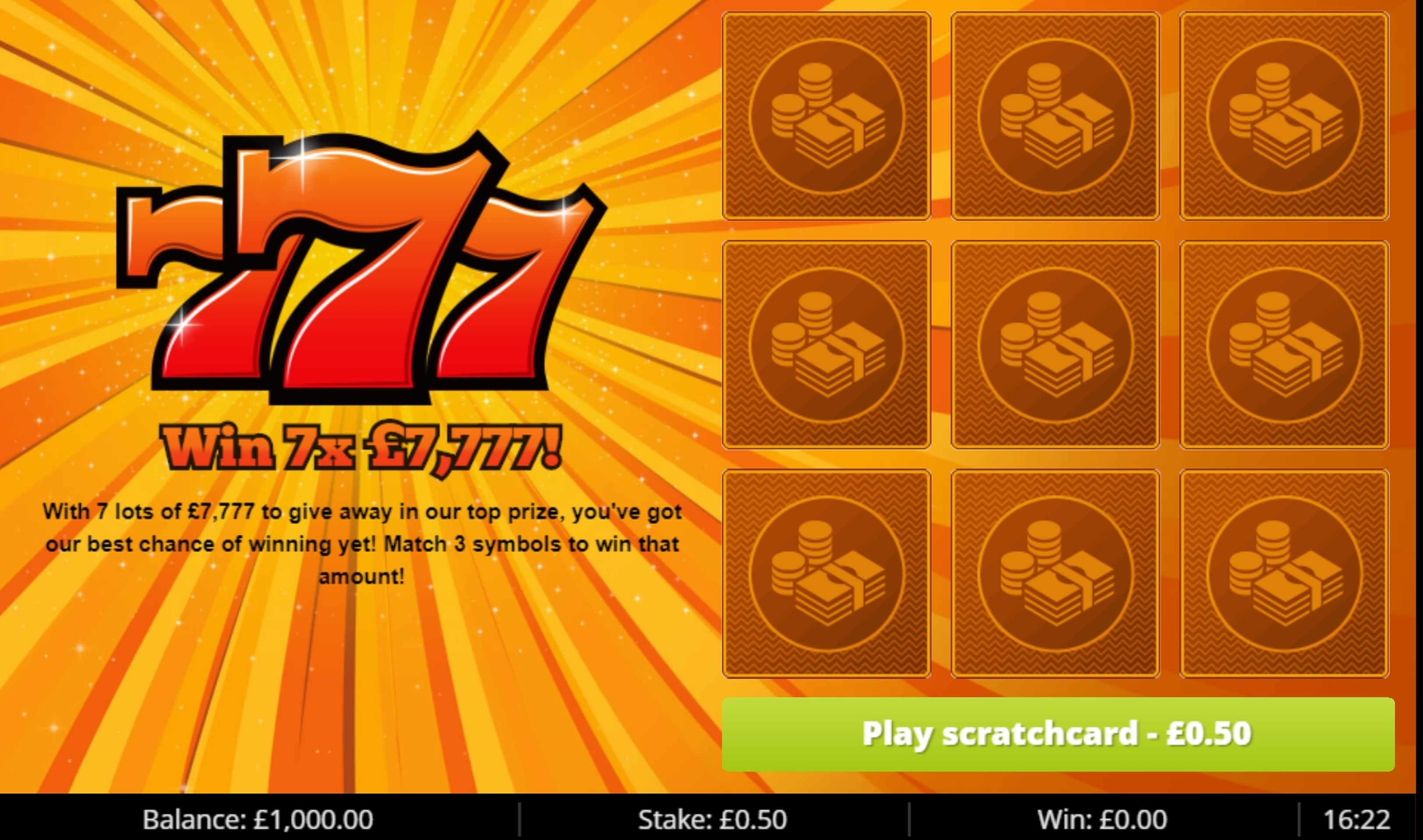Reels in 777 (Gluck Games) Slot Game by Gluck Games