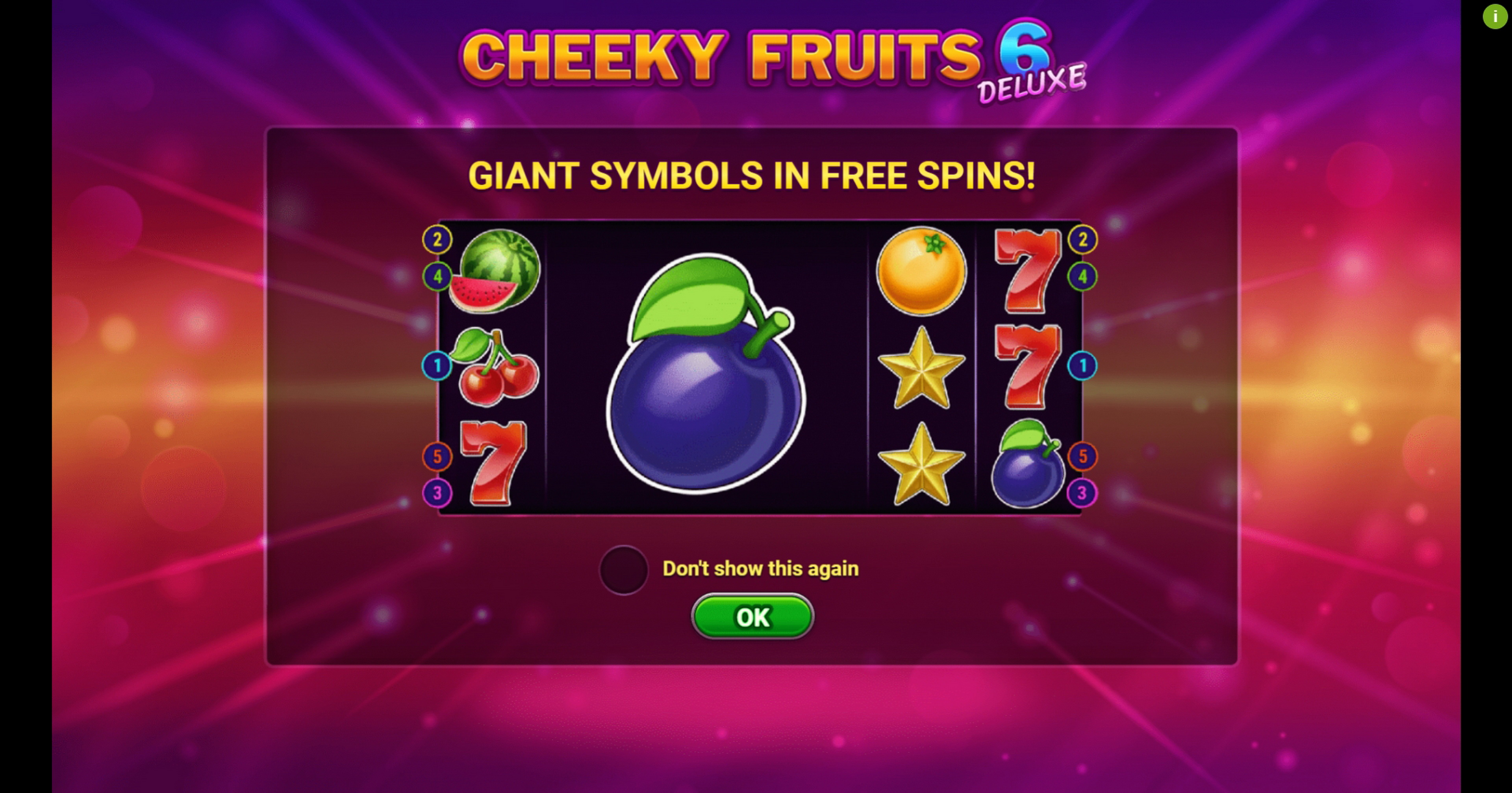Play Cheeky Fruits 6 Deluxe Free Casino Slot Game by Gluck Games