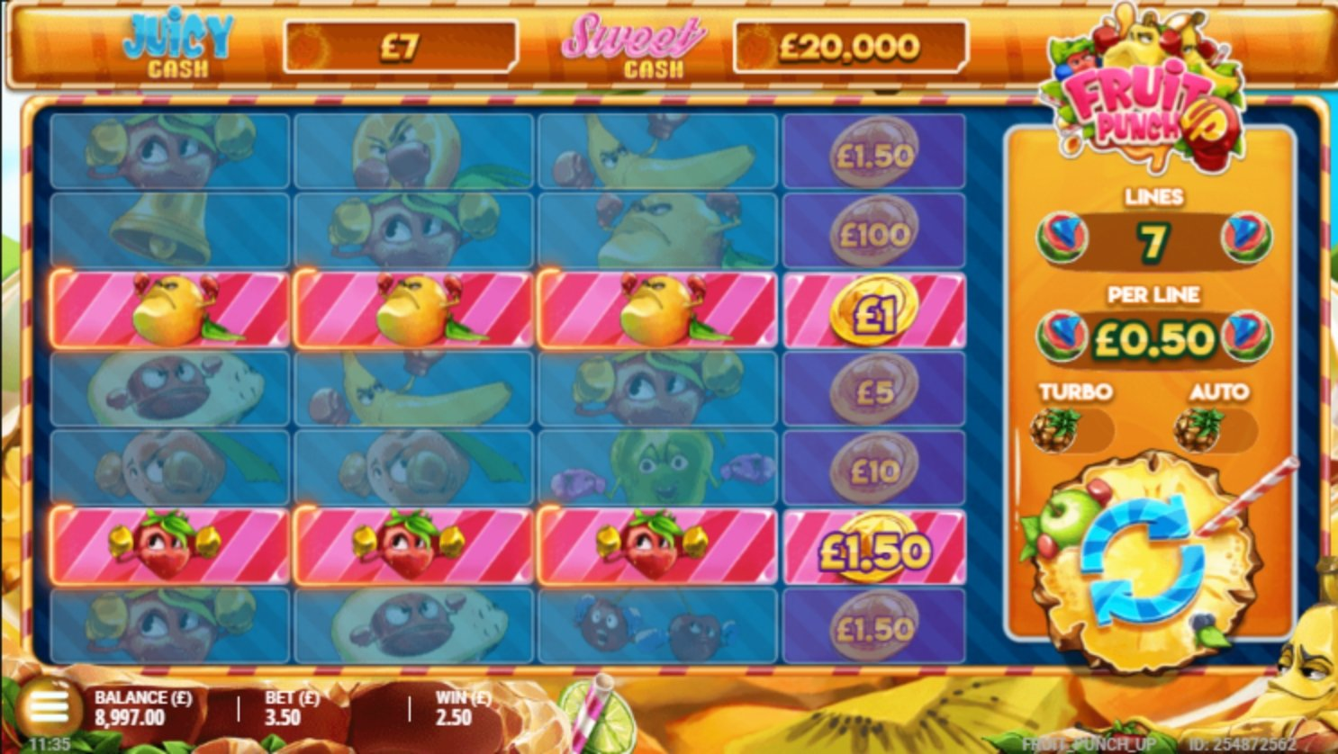 The Fruit Punch Up Online Slot Demo Game by Gluck Games