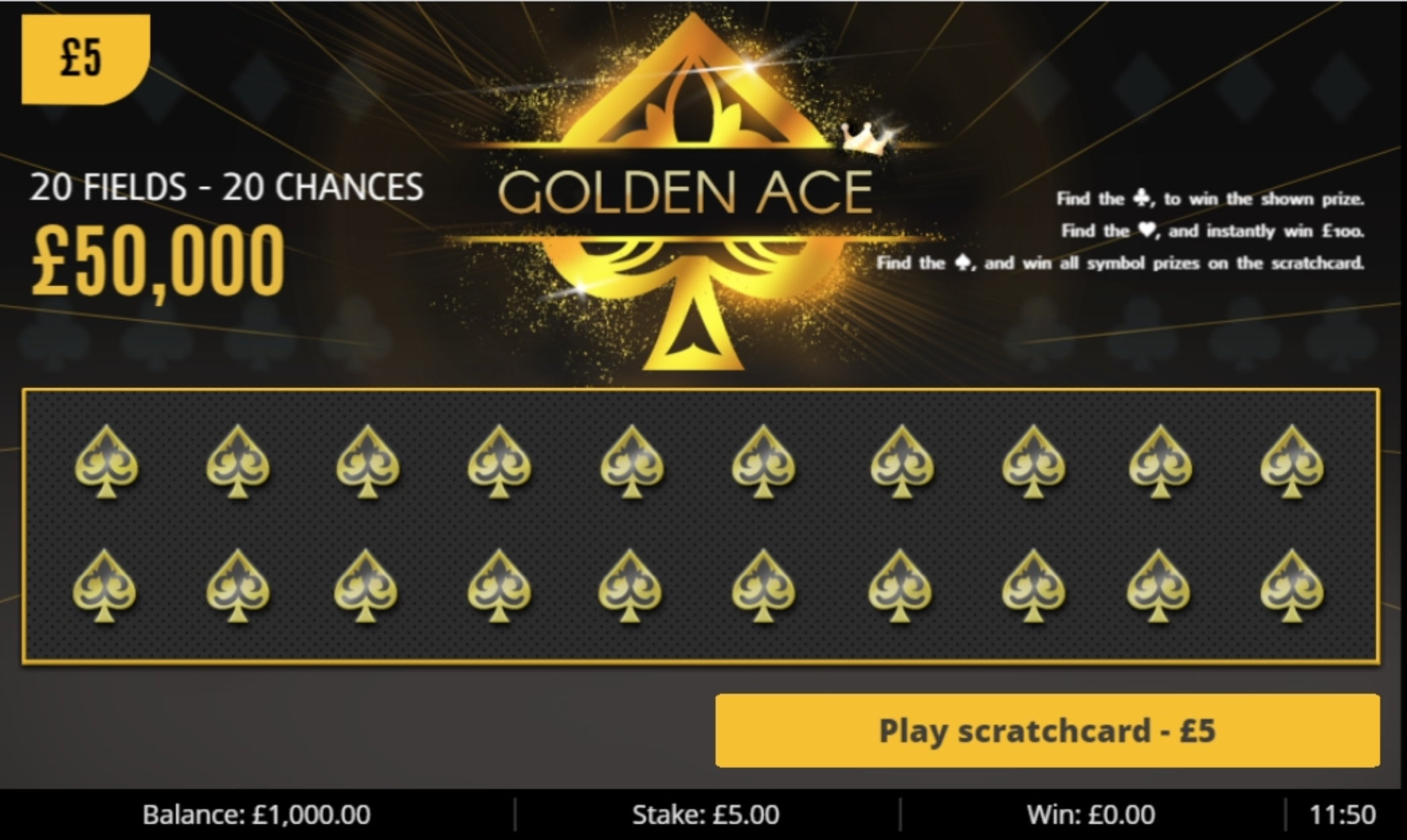 Reels in Golden Ace Slot Game by Gluck Games