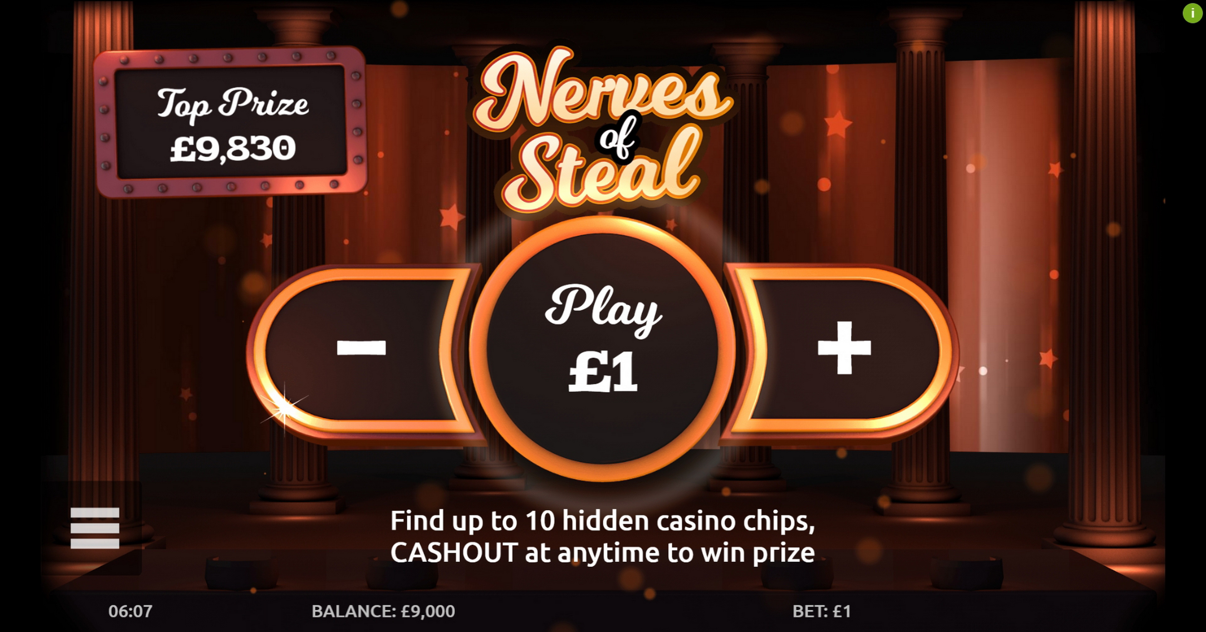 Play Nerves of Steal Free Casino Slot Game by Gluck Games