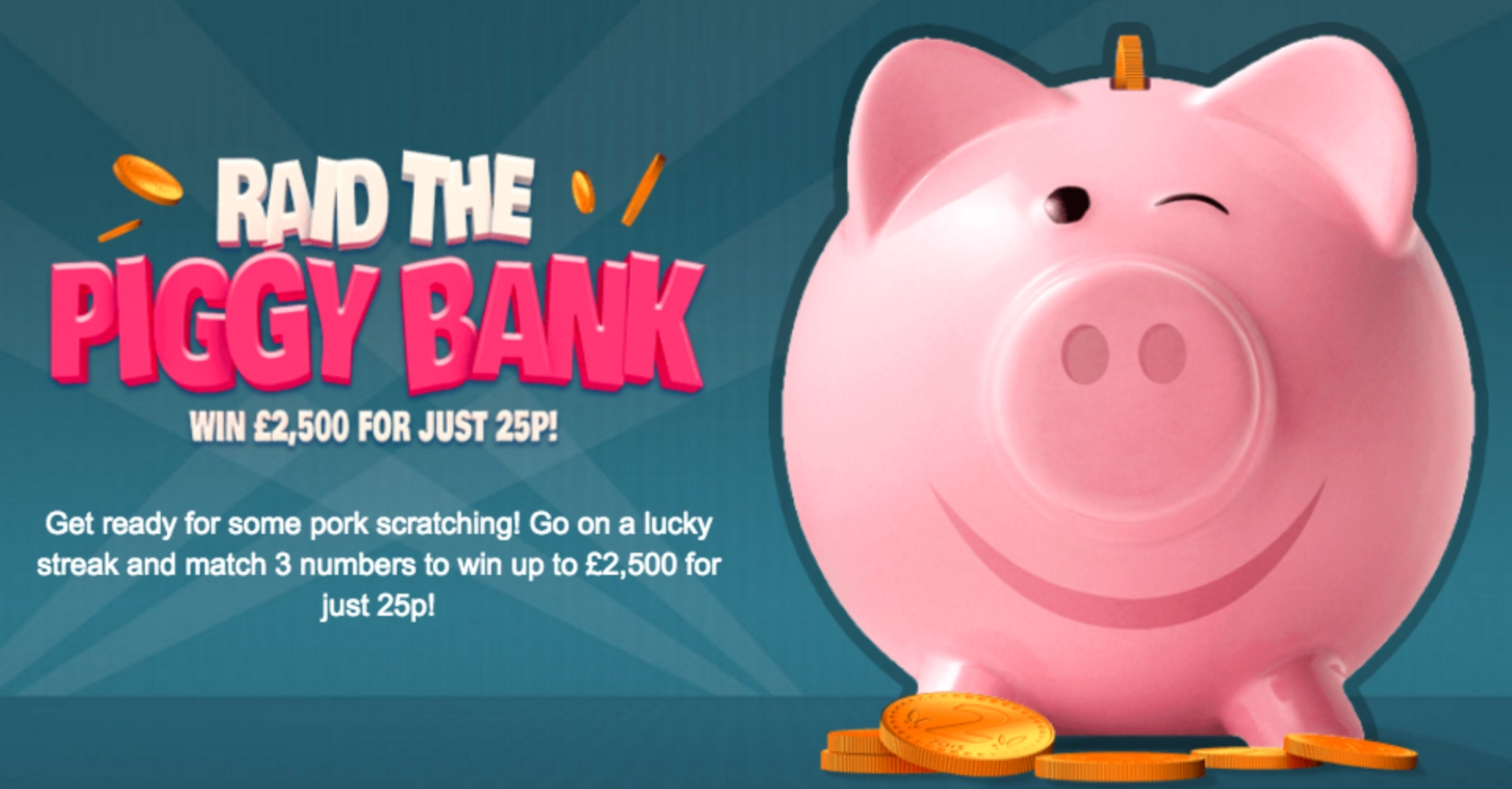 The Raid the Piggy Bank Online Slot Demo Game by Gluck Games