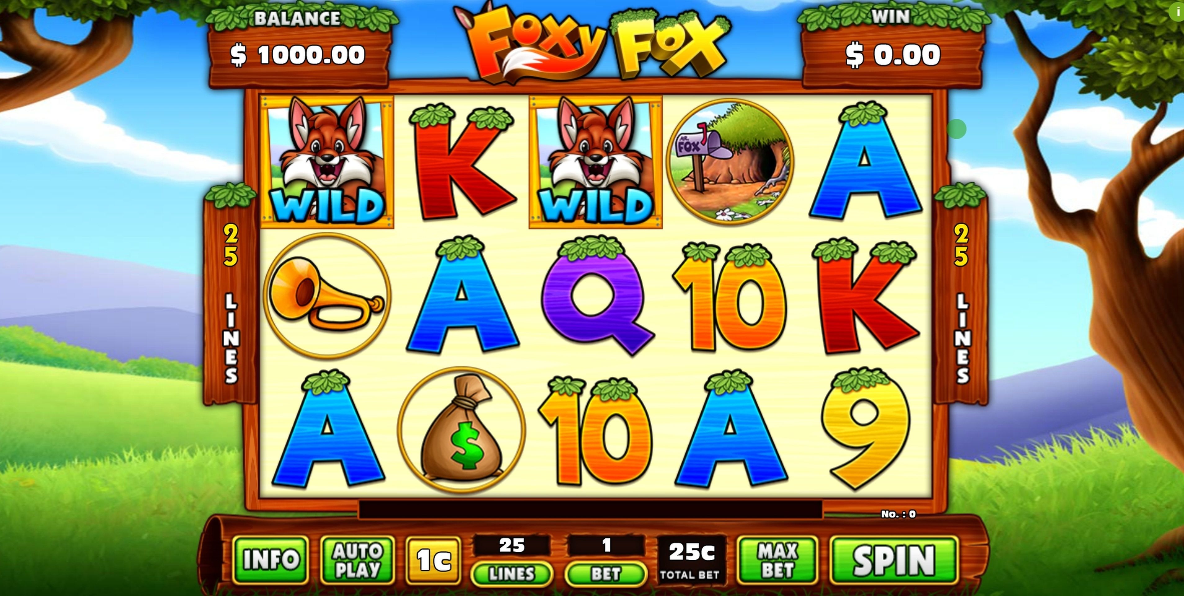 Reels in Foxy Fox Slot Game by GMW