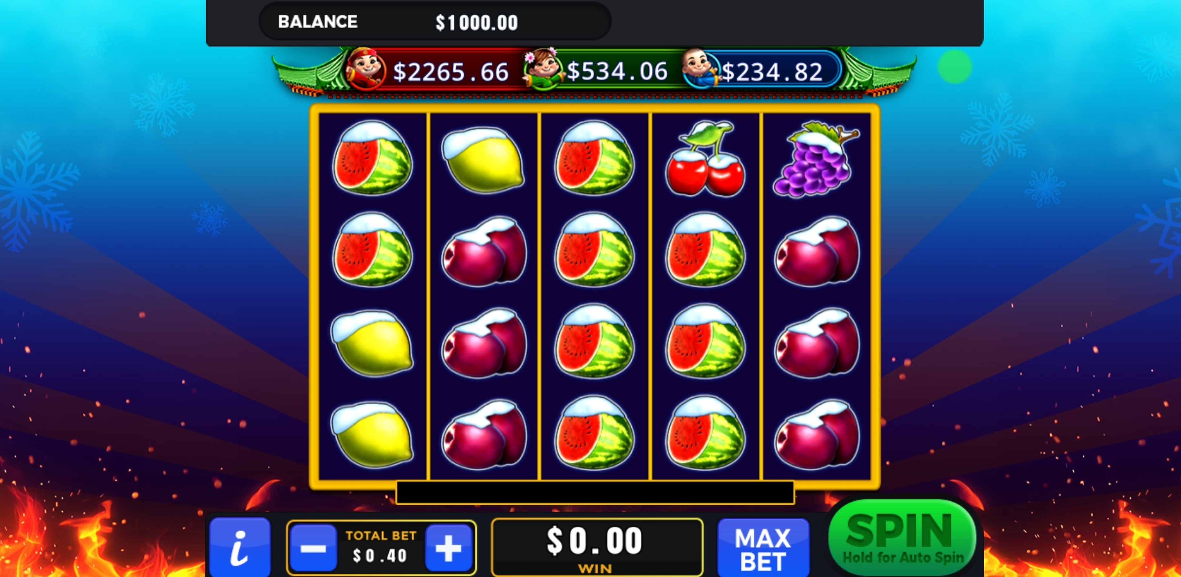 Reels in Hot Frozen Fruits Slot Game by GMW