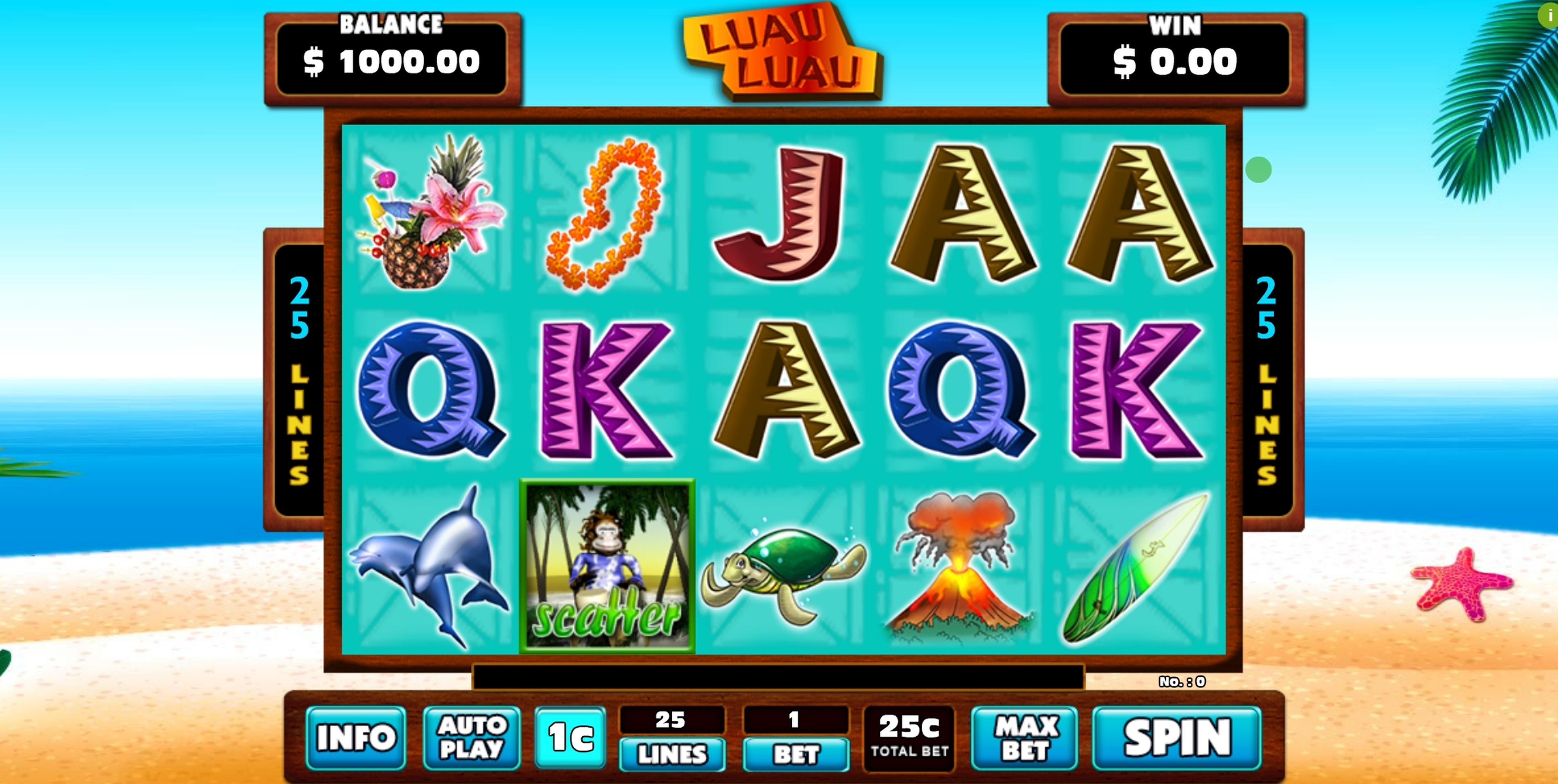 Reels in Luau Luau Slot Game by GMW