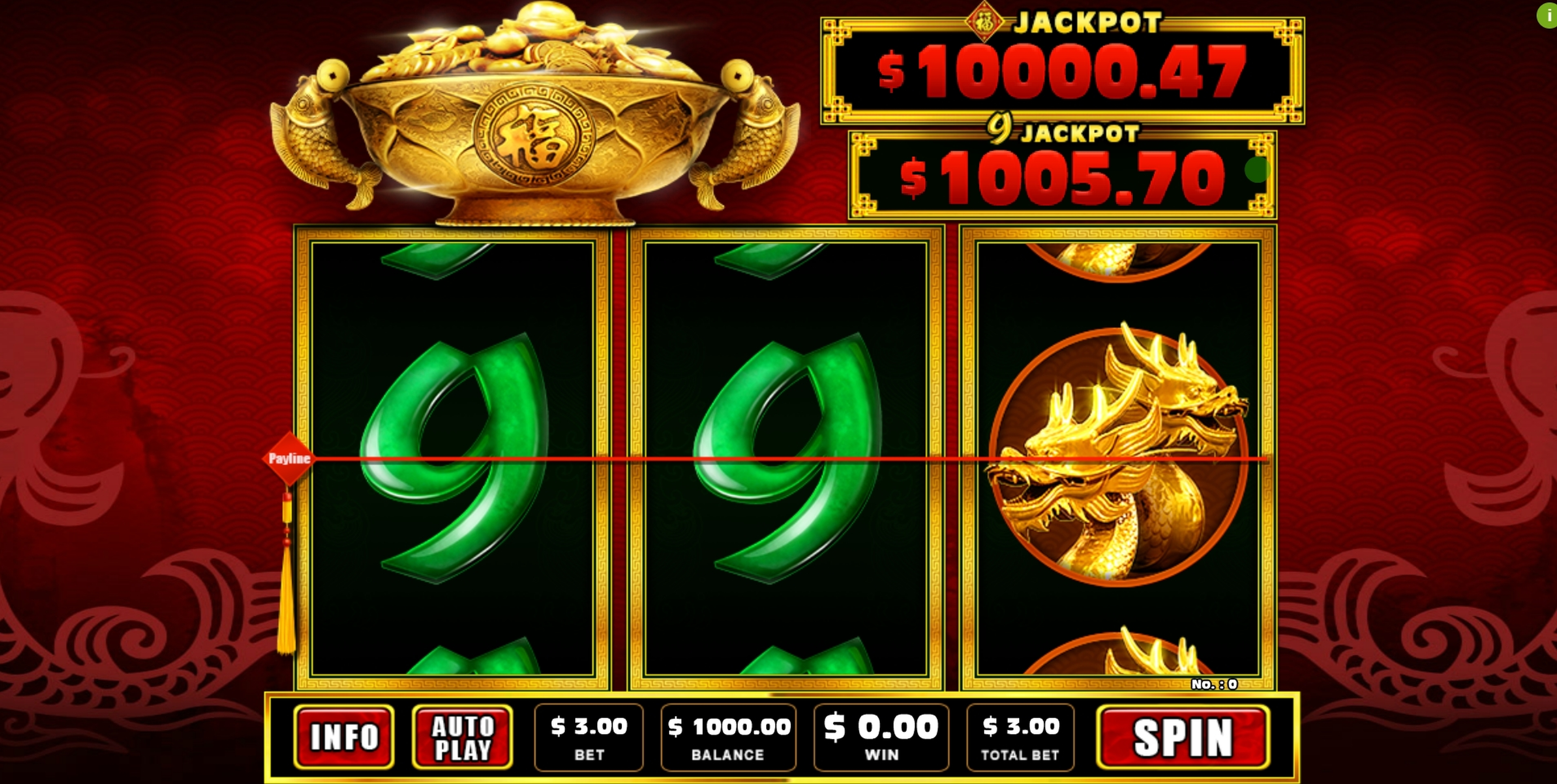Reels in Super 9's Slot Game by GMW