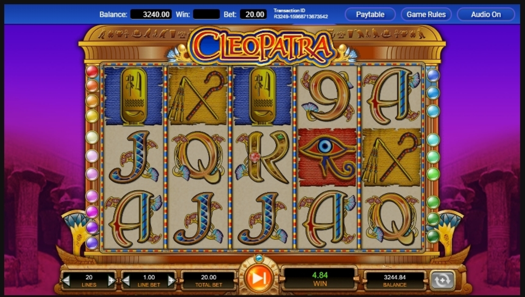 Win Money in Cleopatra (IGT) Free Slot Game by IGT