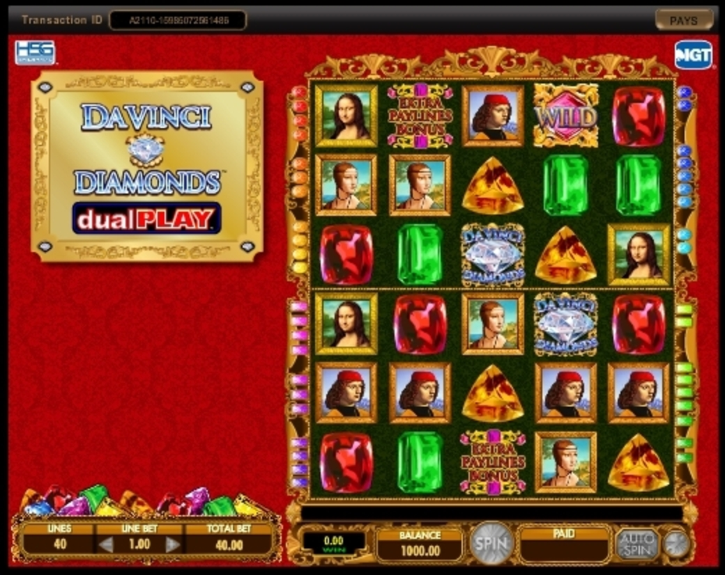 Reels in Da Vinci Diamonds Dual Play Slot Game by IGT
