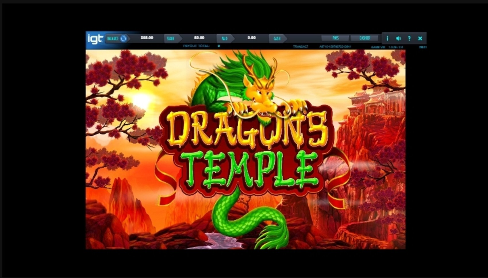 Play Dragon's Temple Free Casino Slot Game by IGT