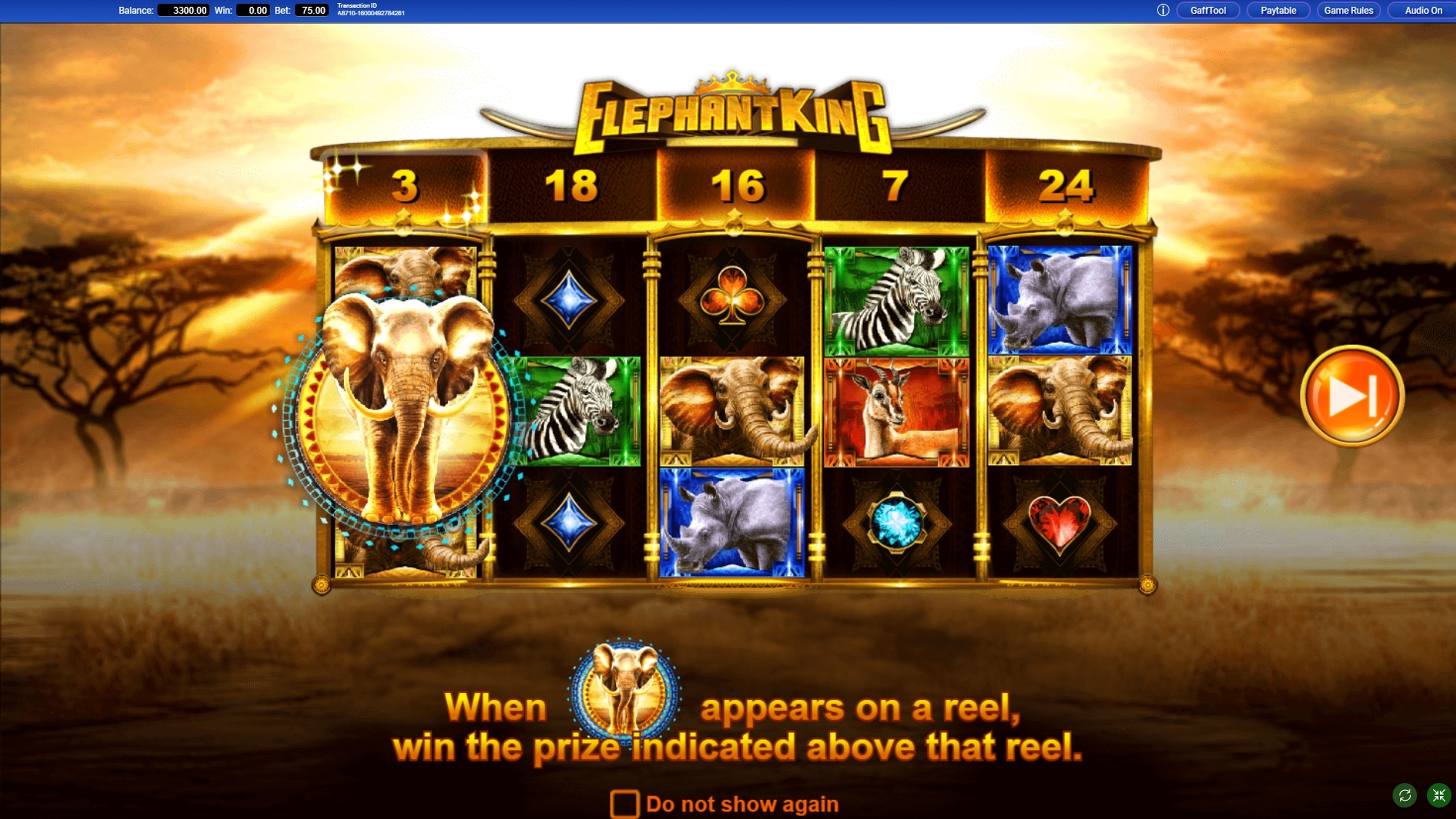 Play Elephant King Free Casino Slot Game by IGT