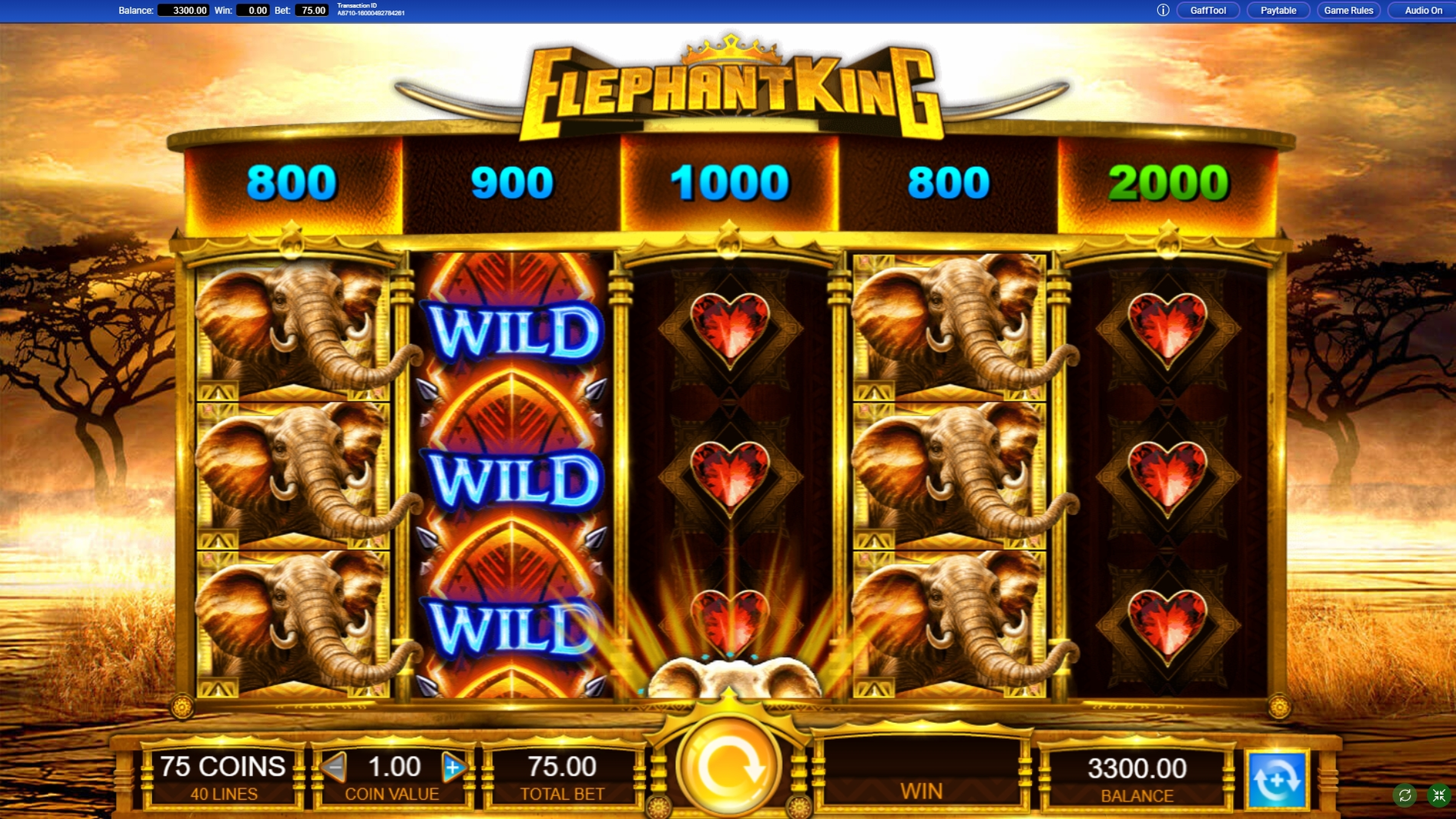 Reels in Elephant King Slot Game by IGT