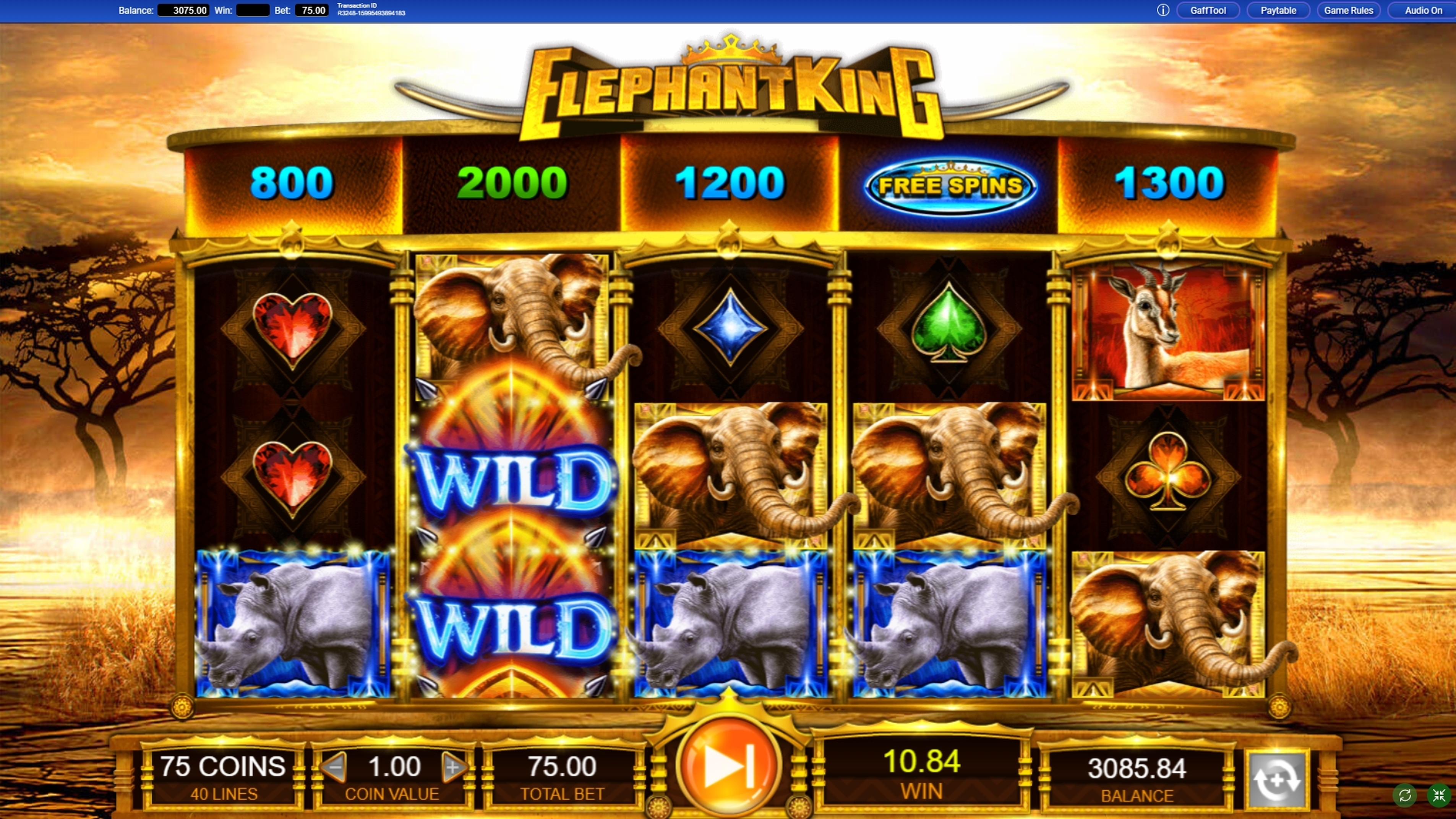 Win Money in Elephant King Free Slot Game by IGT
