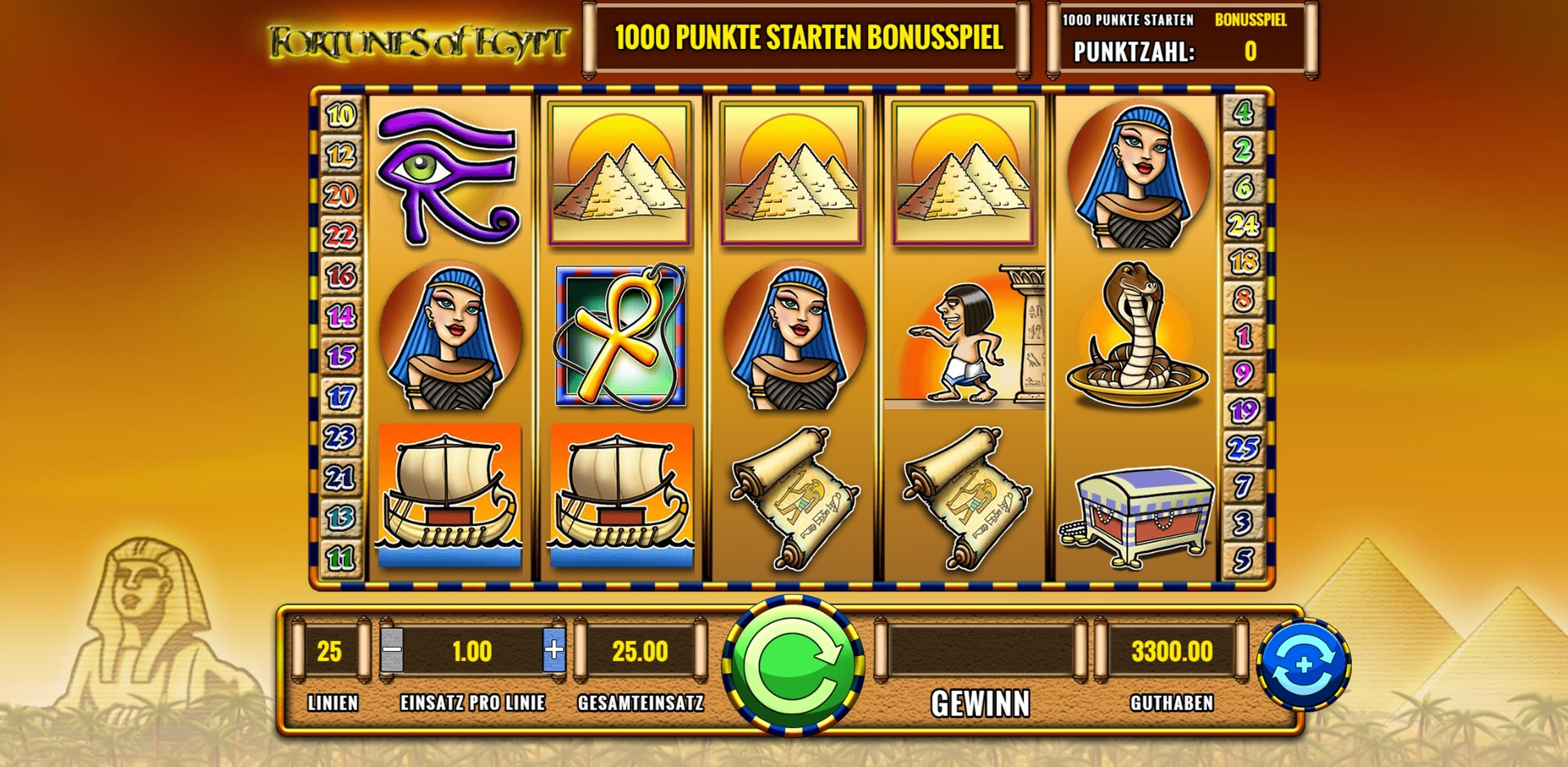 Reels in Fortunes of Egypt Slot Game by IGT