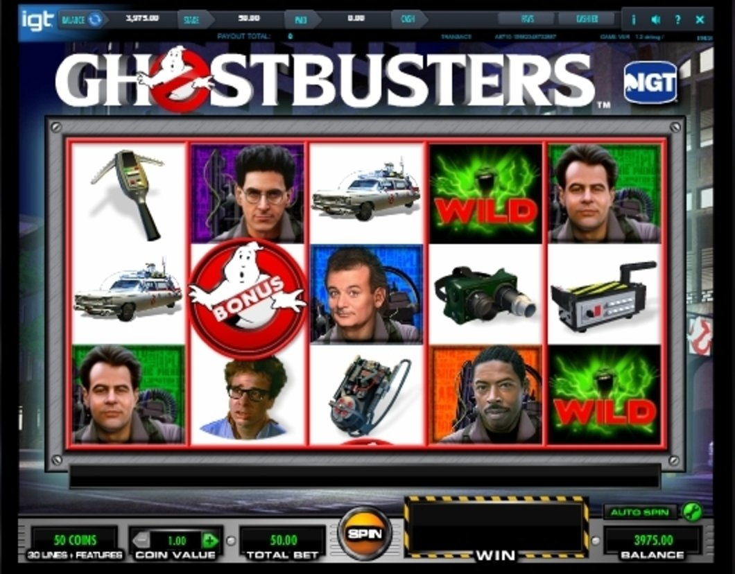 Reels in Ghostbusters Slot Game by IGT
