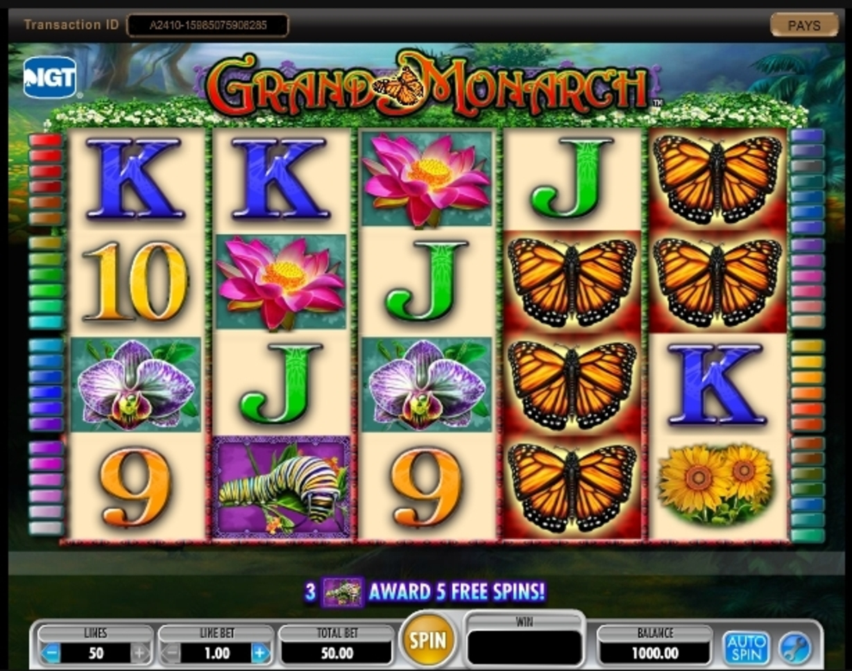 Reels in Grand Monarch Slot Game by IGT