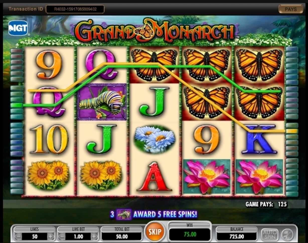 Win Money in Grand Monarch Free Slot Game by IGT